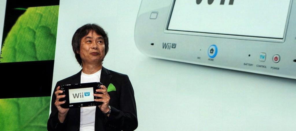 Miyamoto with Wii U