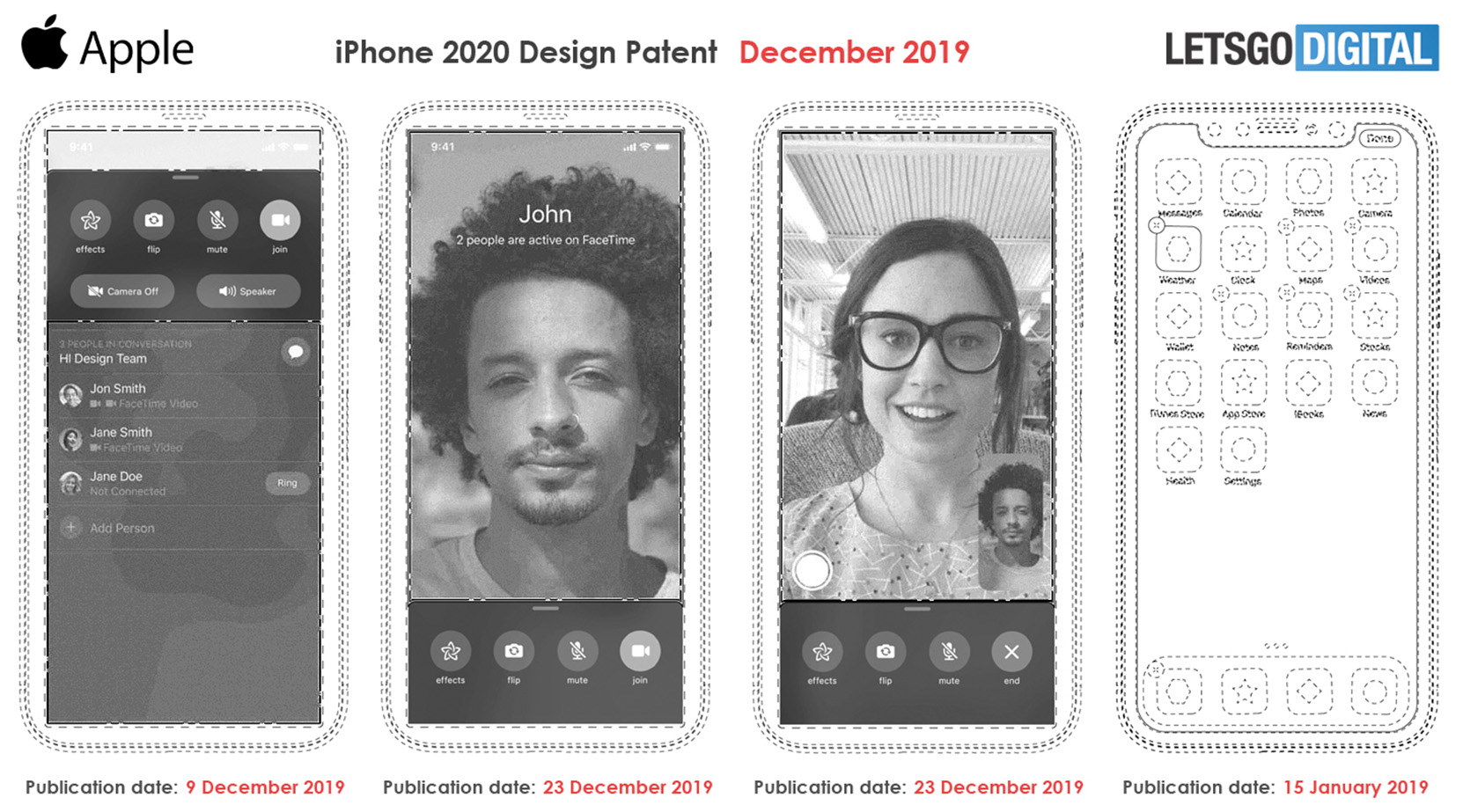 Notchless 2020 iPhone patent