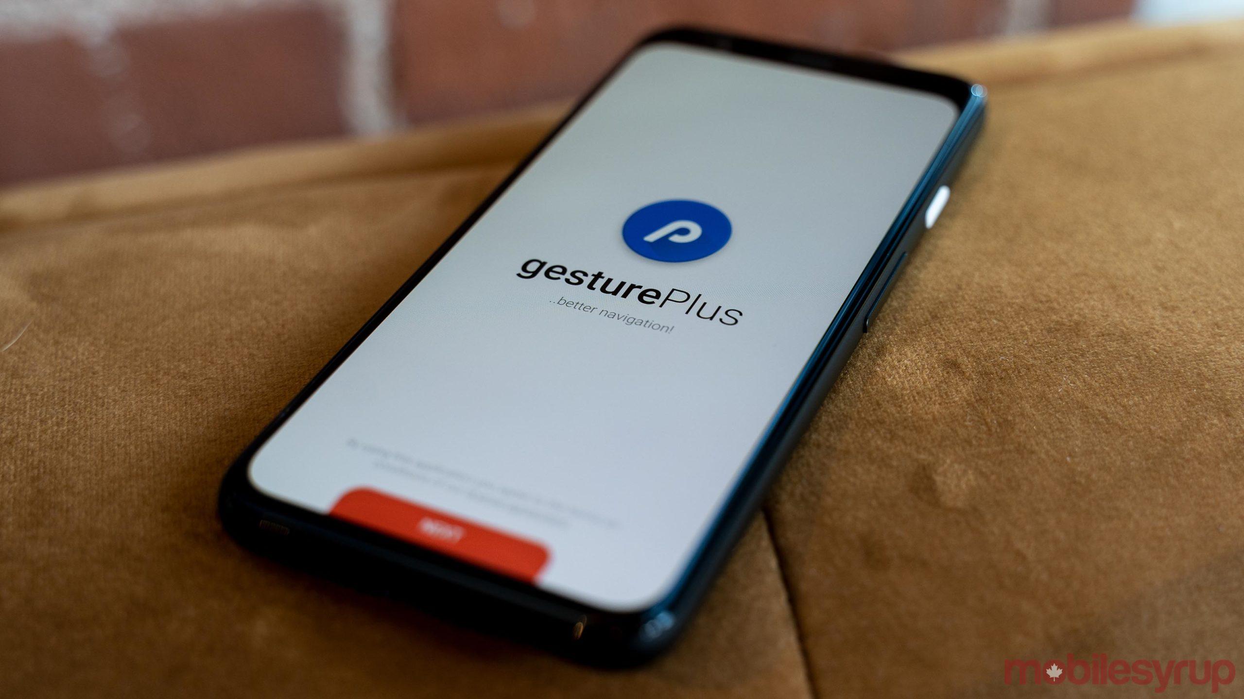 gesturePlus app header