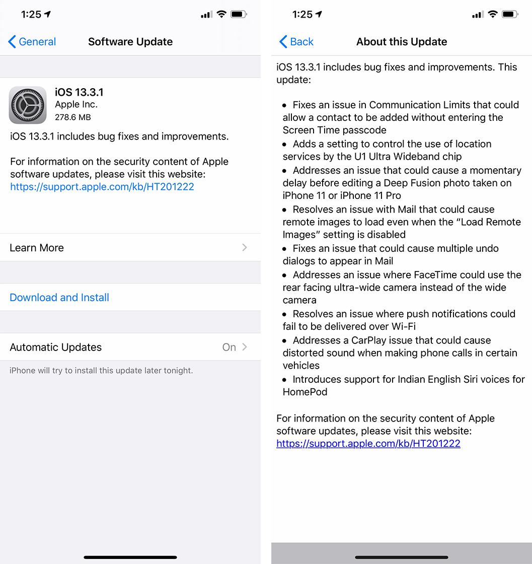 iOS 13.3.2