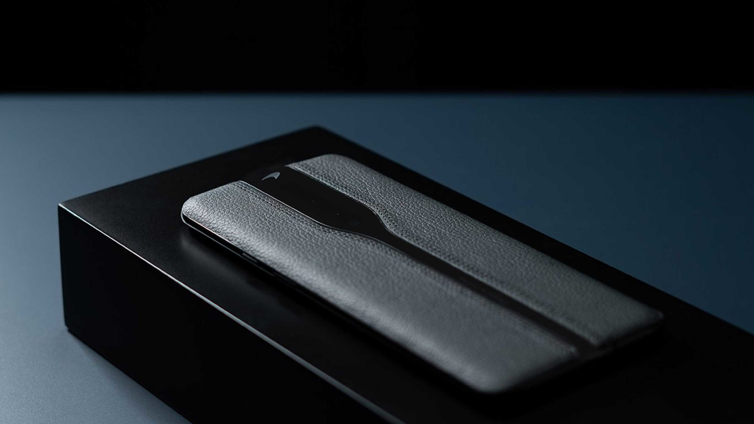 OnePlus shows off black leather concept phones