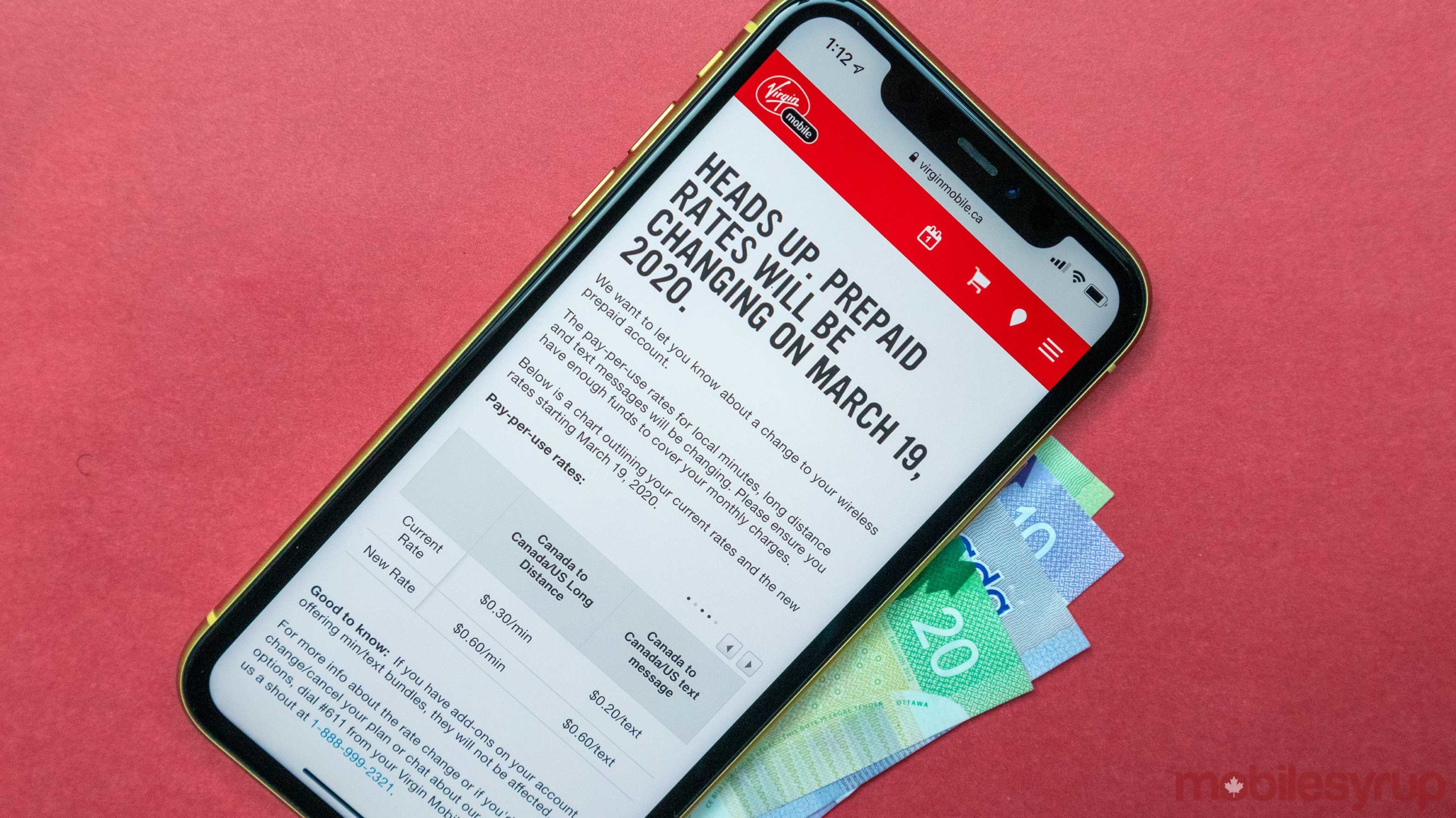 Virgin Mobile doubling prepaid rate charges on March 19th