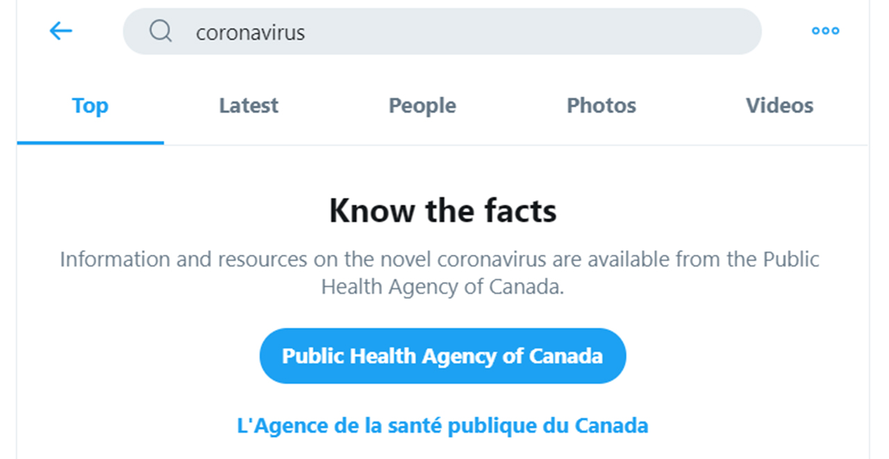 Searching for coronavirus on Twitter