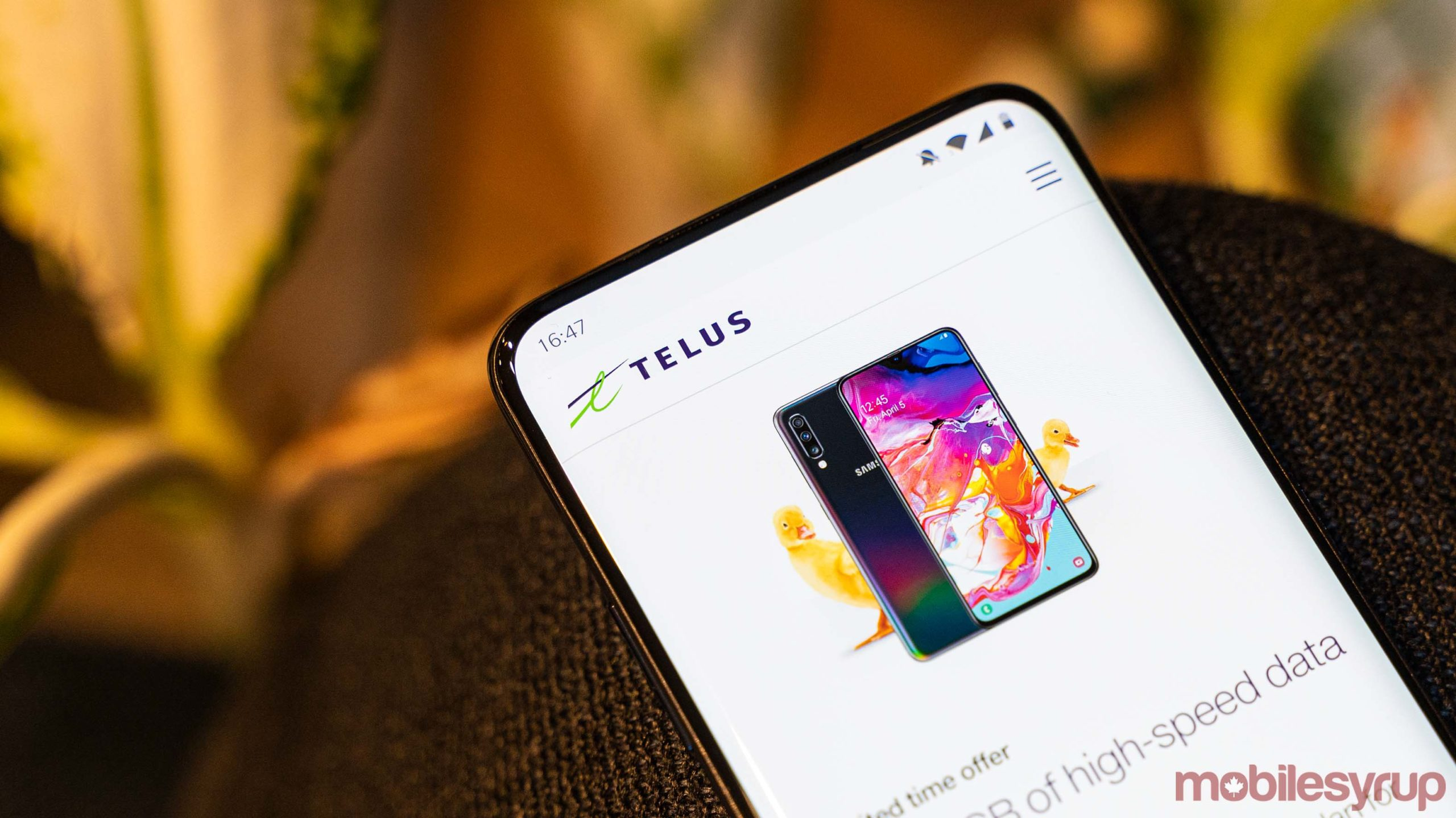 Telus website