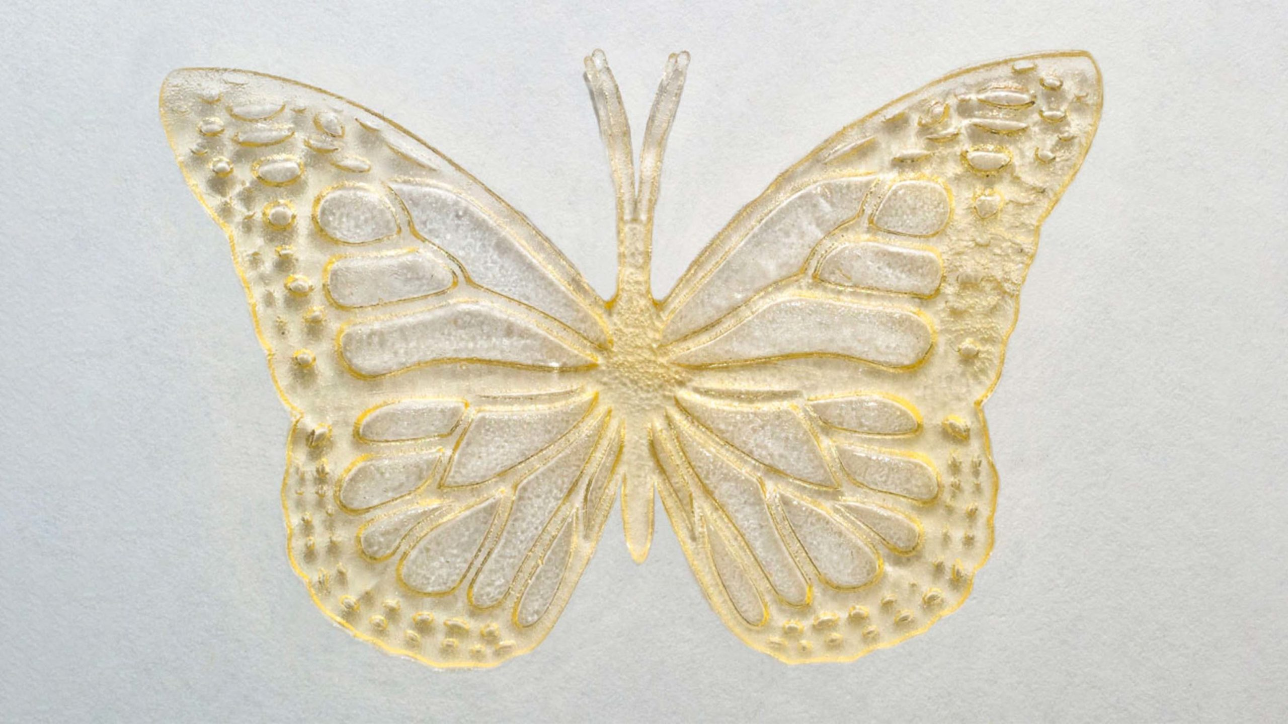 3D printed butterfly made with used cooking oil