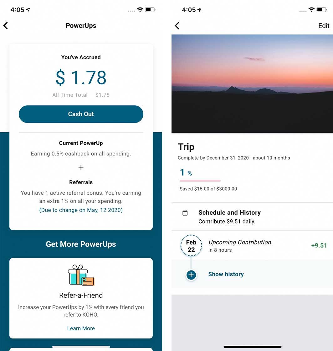 Koho card app ios
