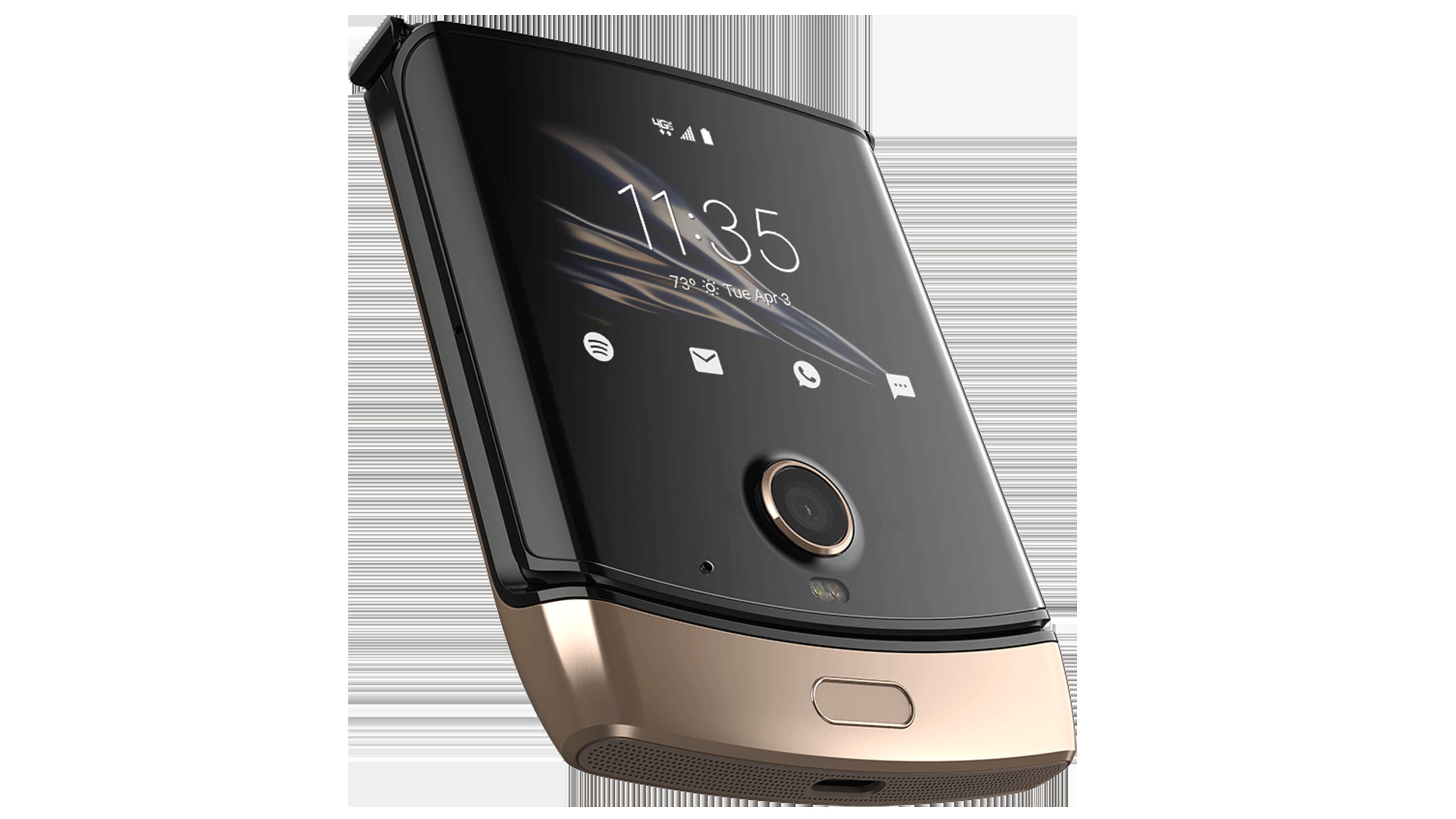 Motorola Razr in gold
