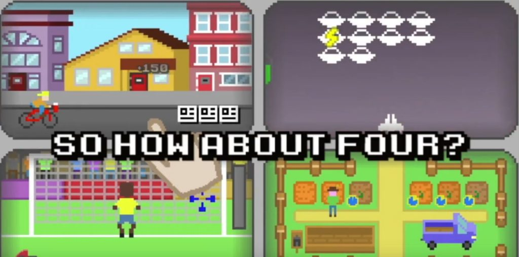 Quadracade coming to iOS, lets you play four retro-inspired games at once
