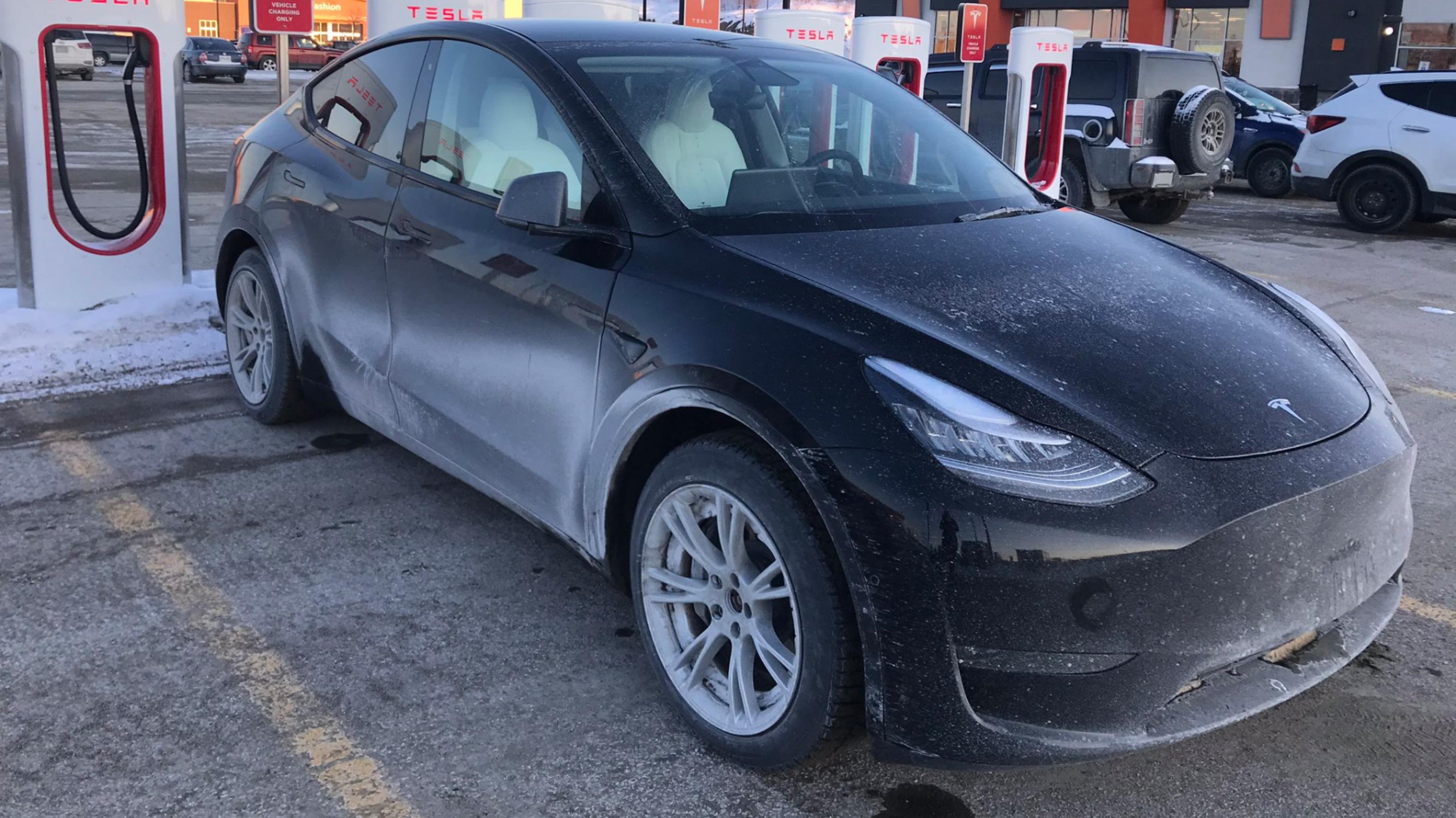 Tesla Model Y spotted in Sudbury, Ontario