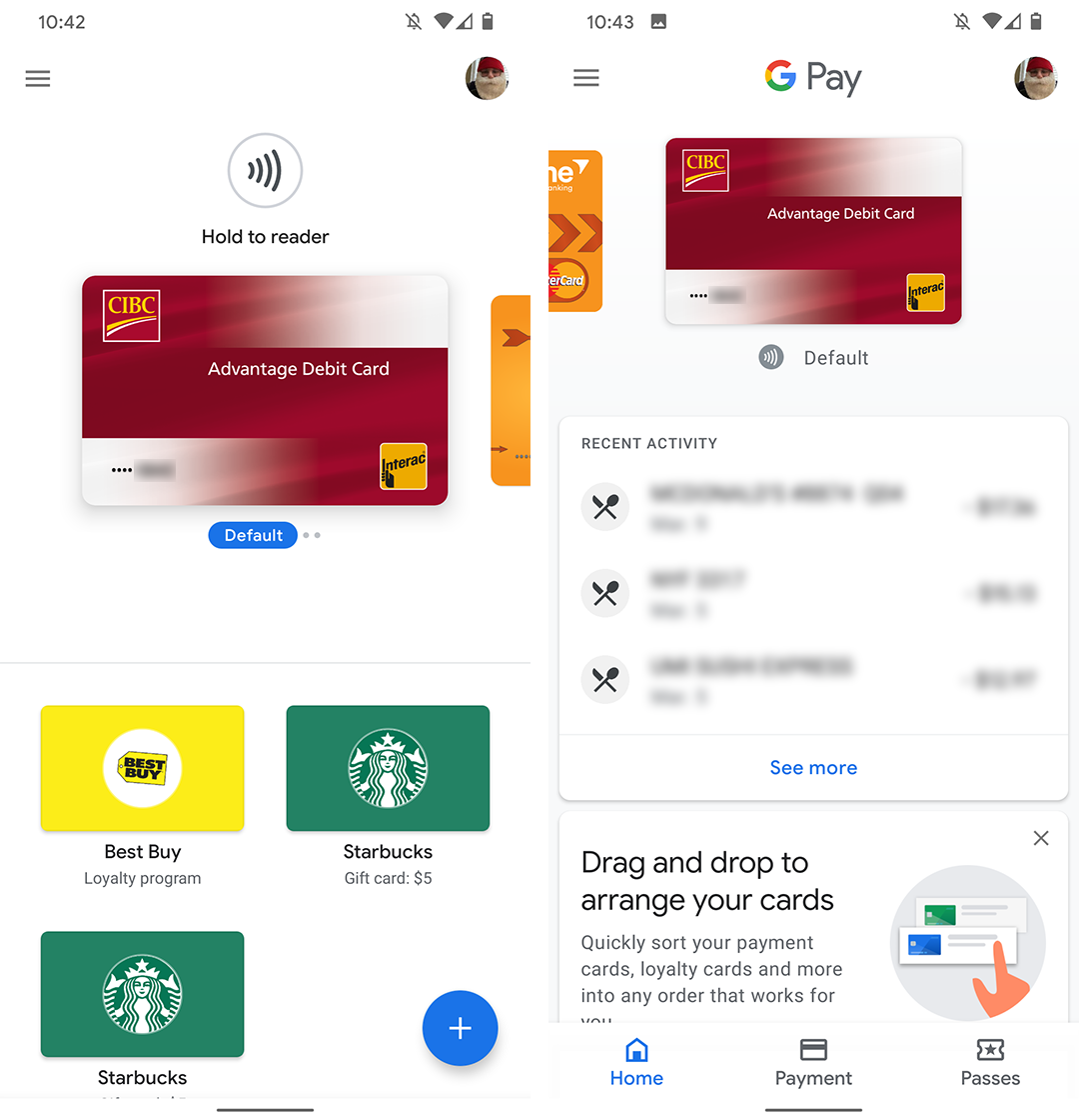 Google Pay new interface