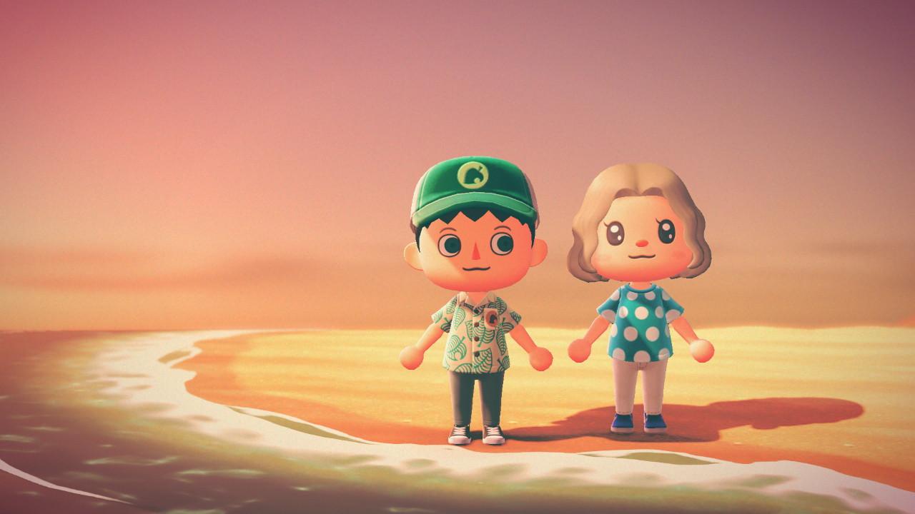 Animal Crossing beach photo