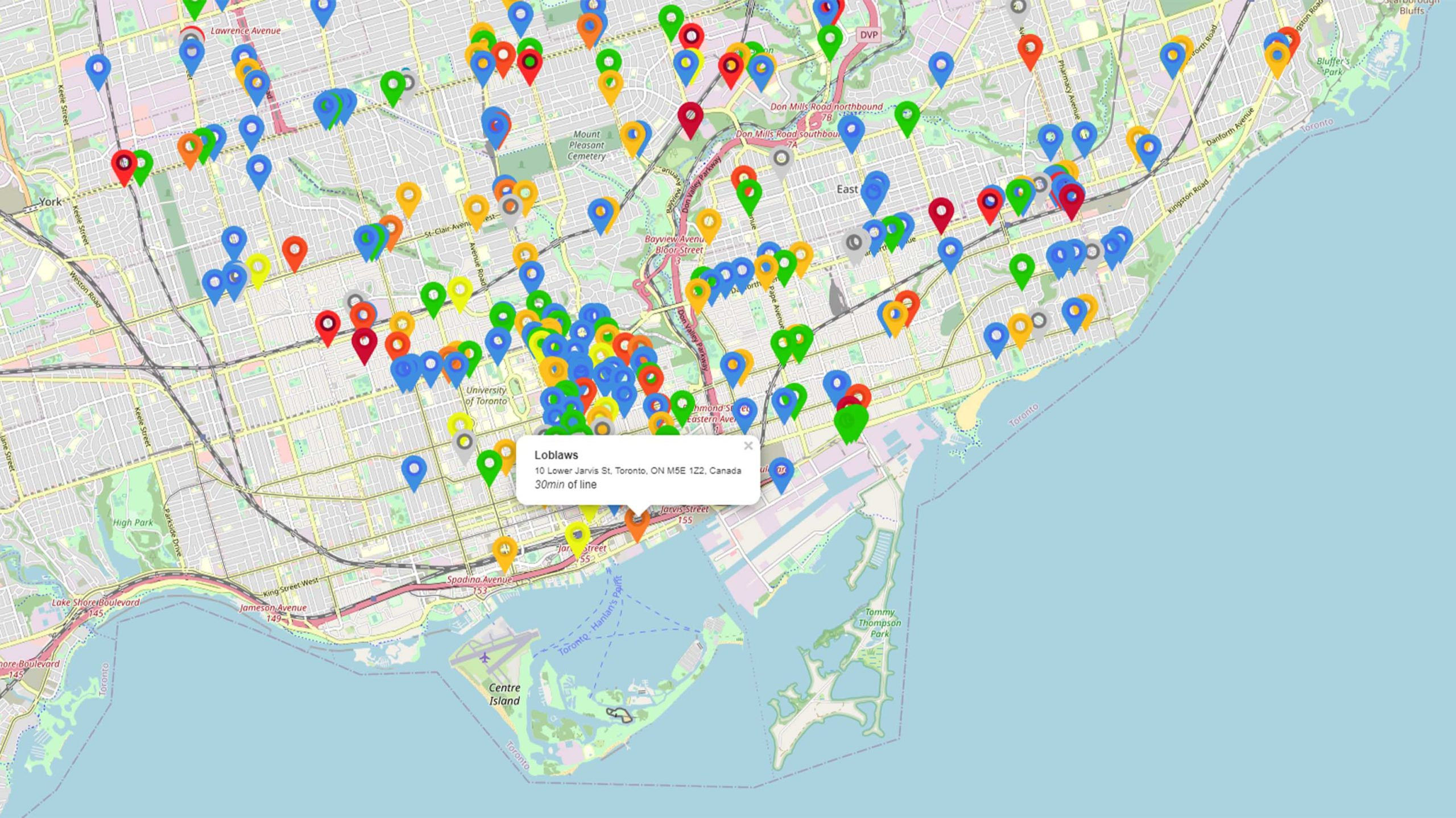 Grocery store wait times in Toronto