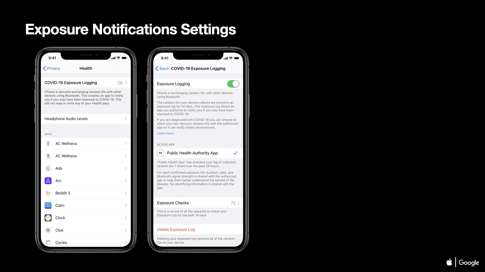 04 COVID-19 Exposure Notifications Settings iOS