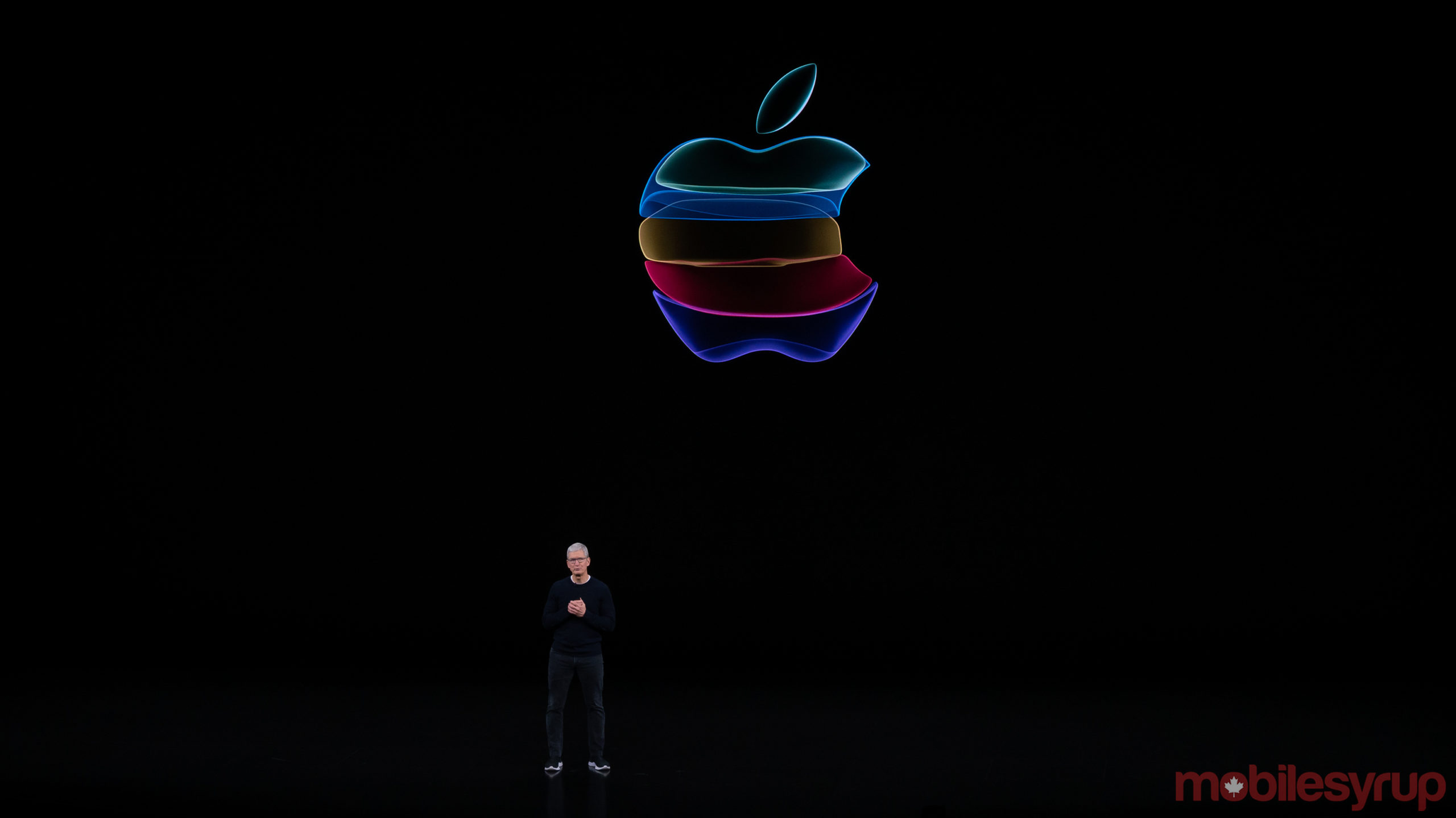 Tim Cook during iPhone 11 series reveal keynote