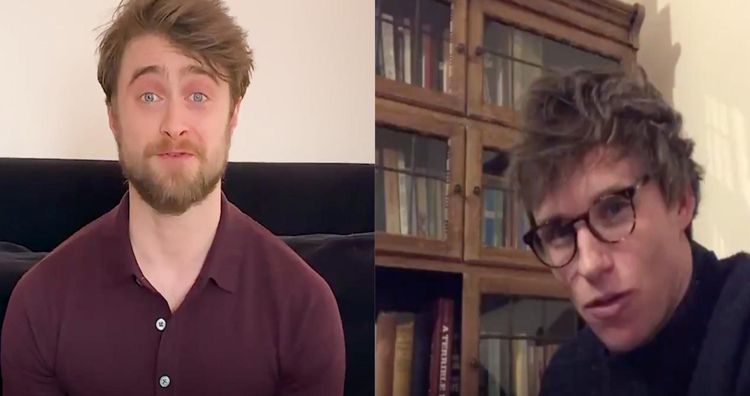 Daniel Radcliffe and Eddy Redmayne