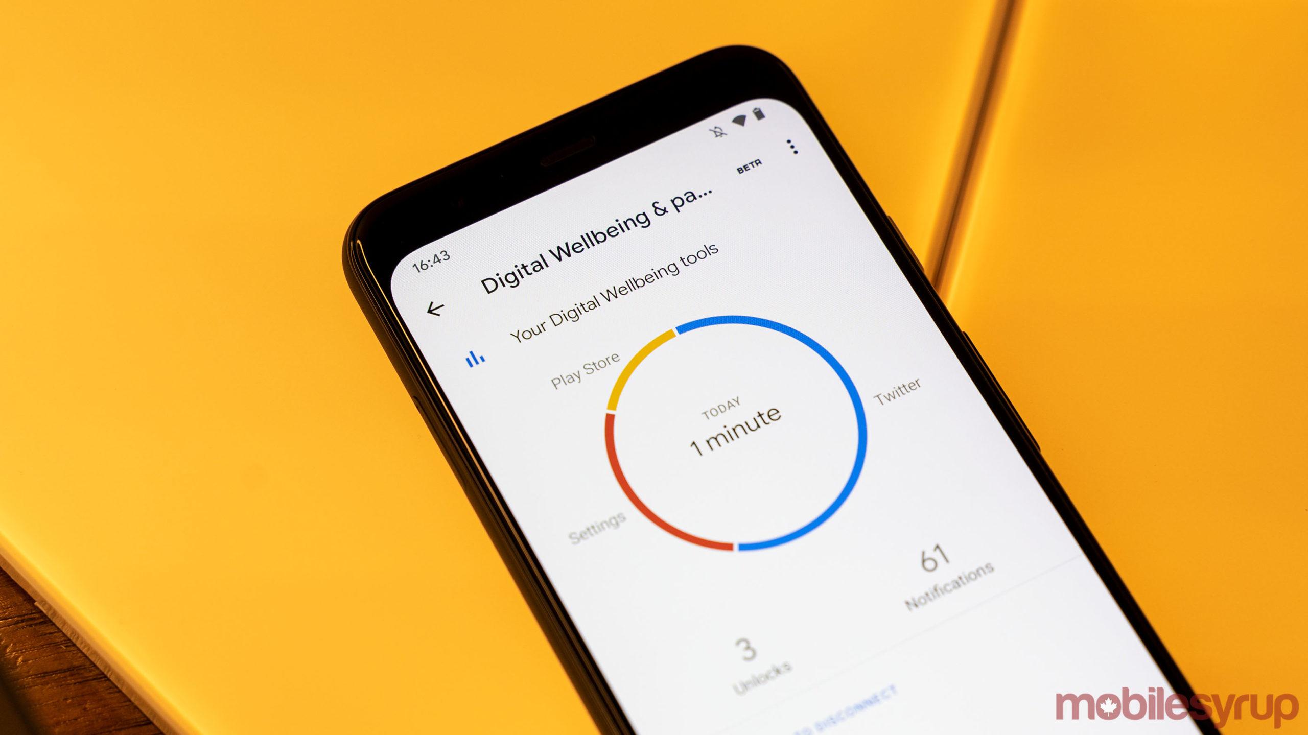 Digital Wellbeing on Pixel 4