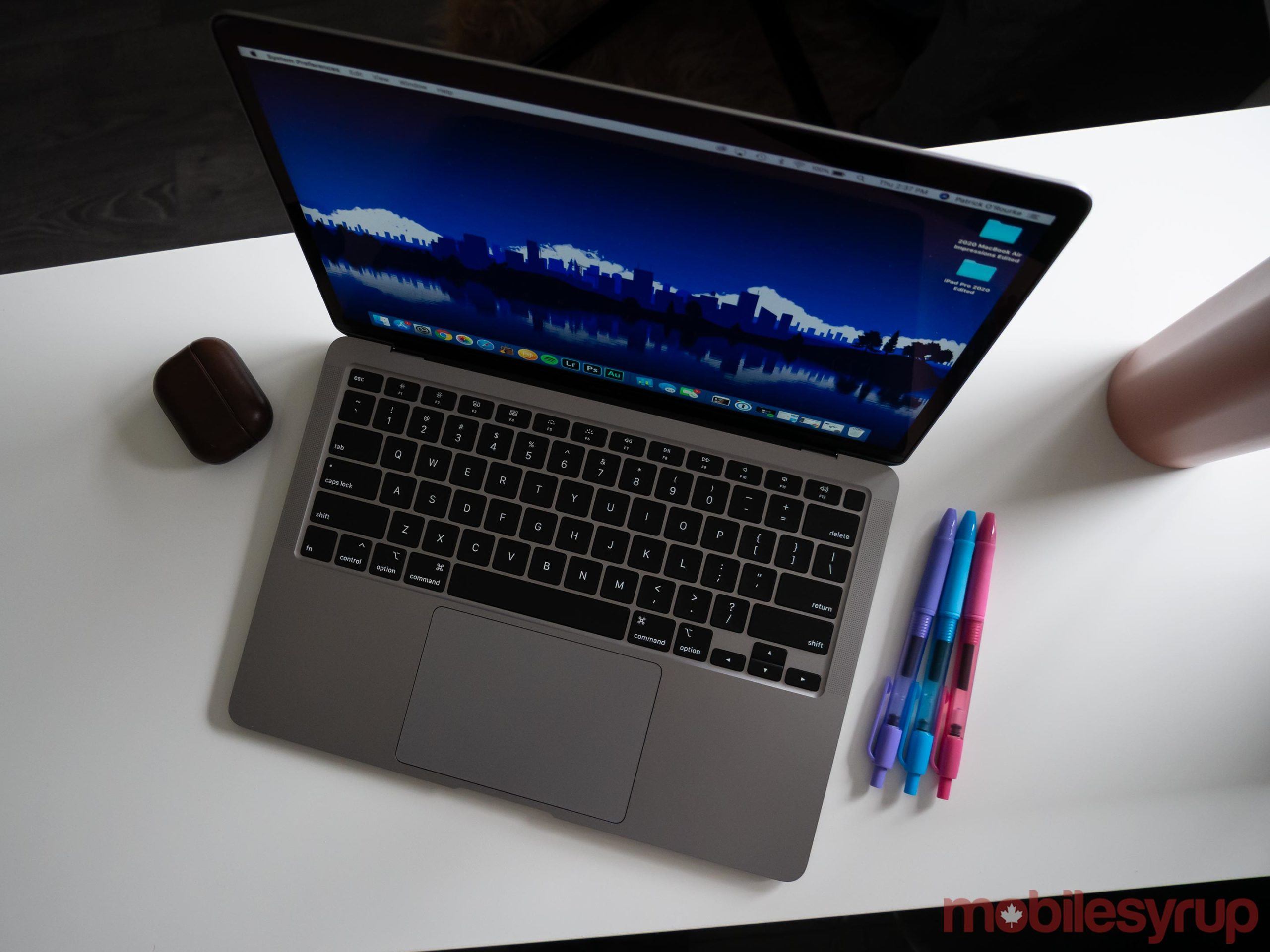 MacBook Air (2020) on white table