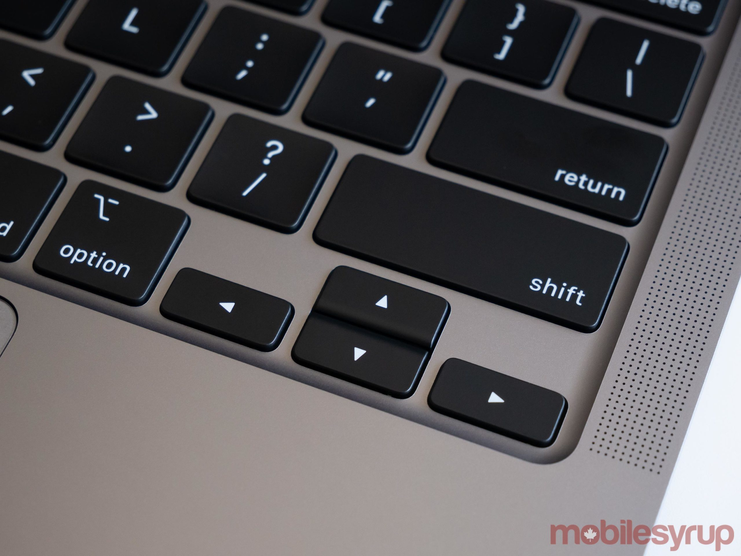 MacBook Pro arrow keys