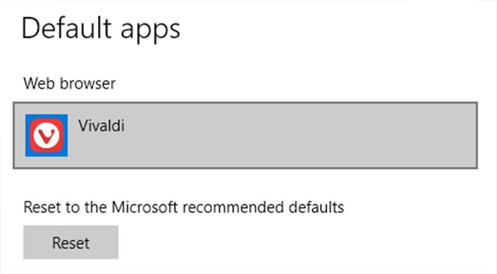 windows default apps