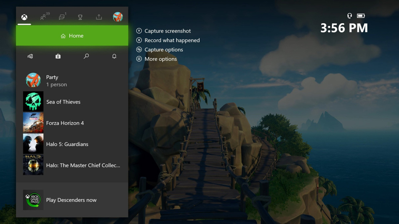 xbox one guide home