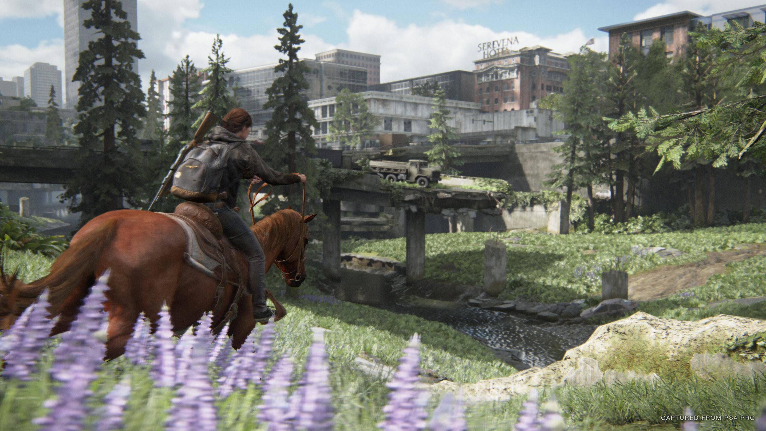 The Last of Us Part II Ellie horseback
