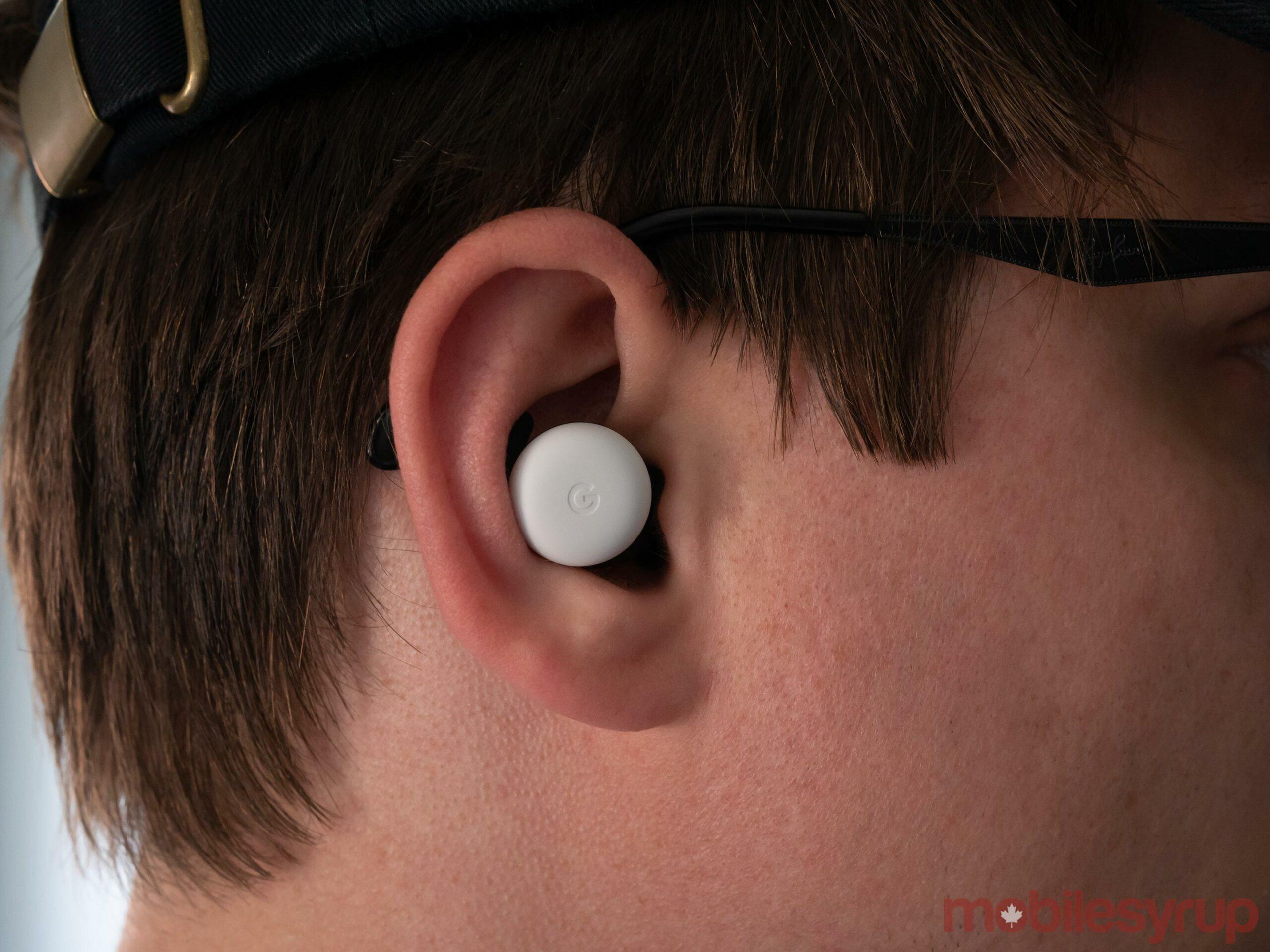 Pixel Buds in ear