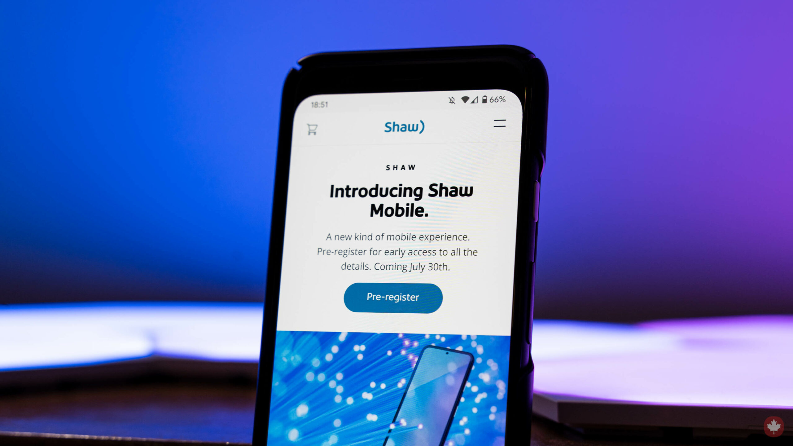 Shaw Mobile website