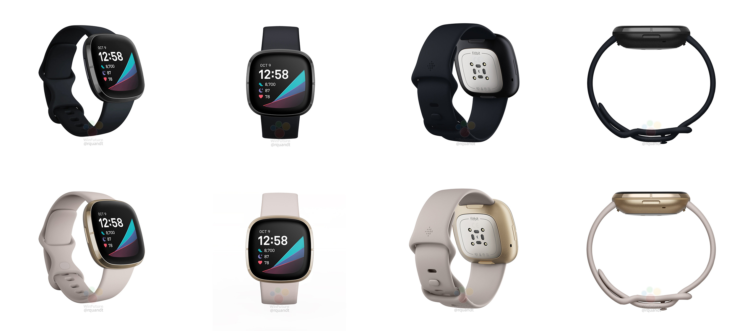 Leaked renders show off upcoming Fitbit 'Sense,' Versa 3 watches