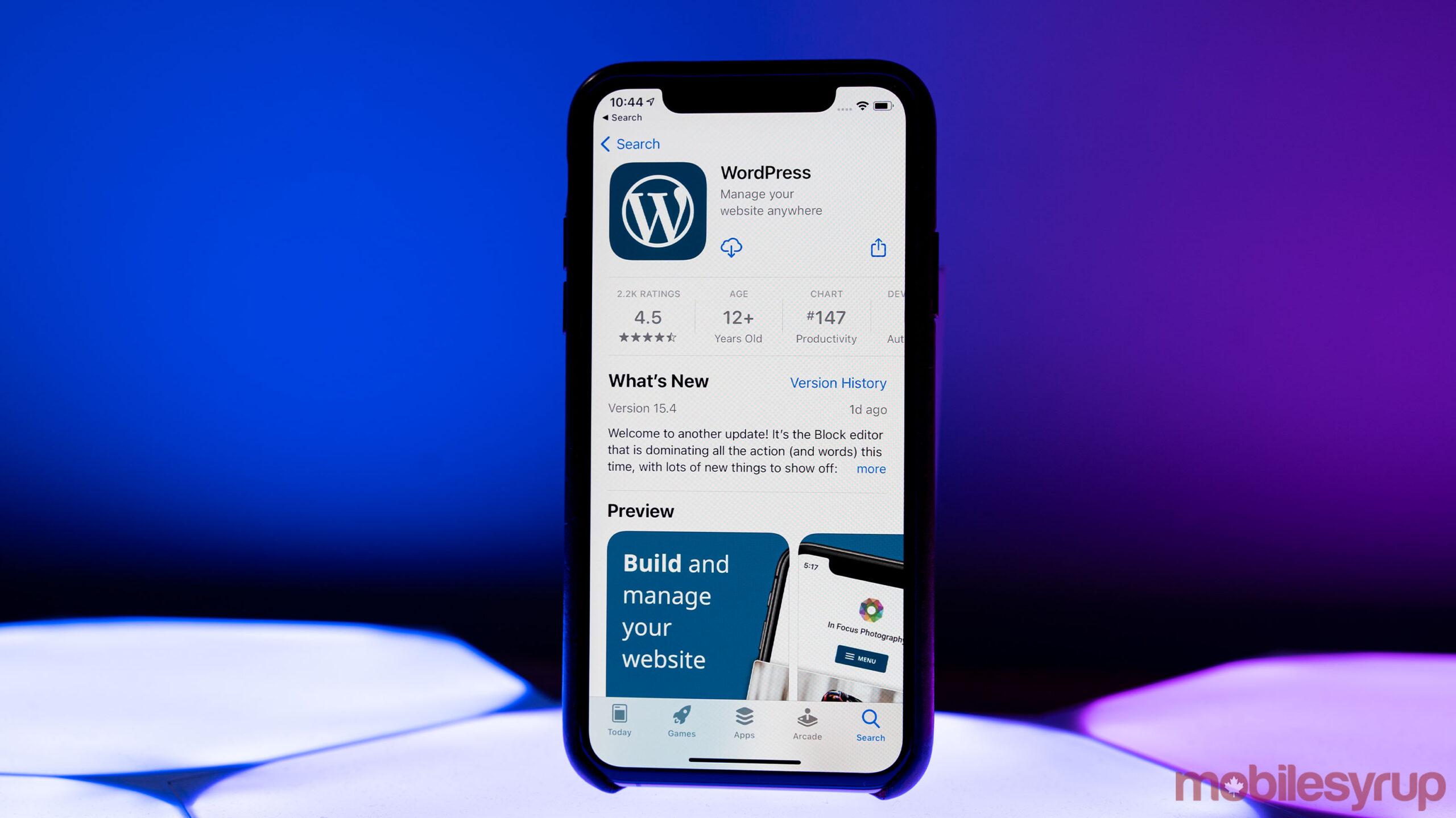 WordPress on iOS App Store
