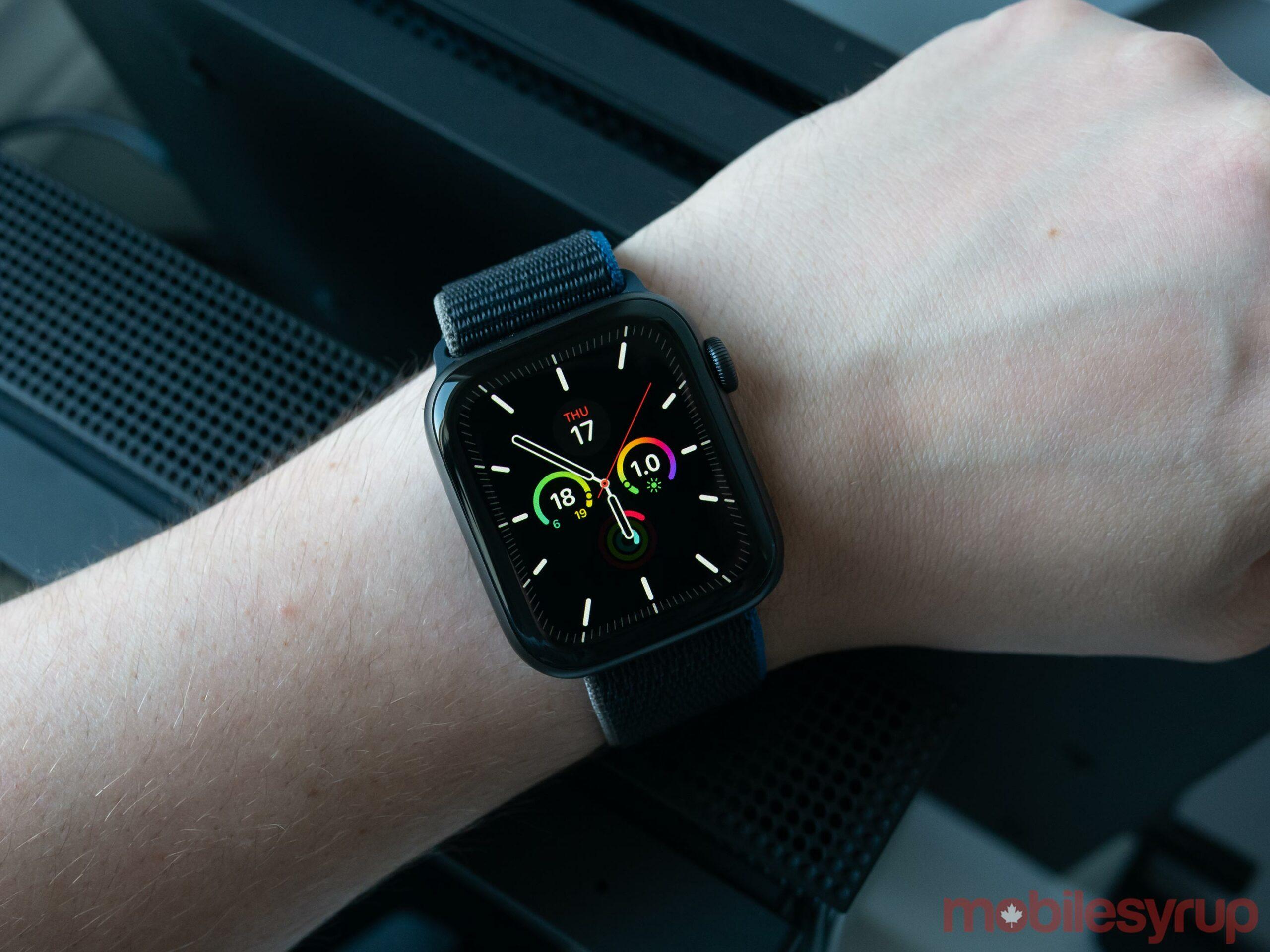 Apple Watch SE on wrist