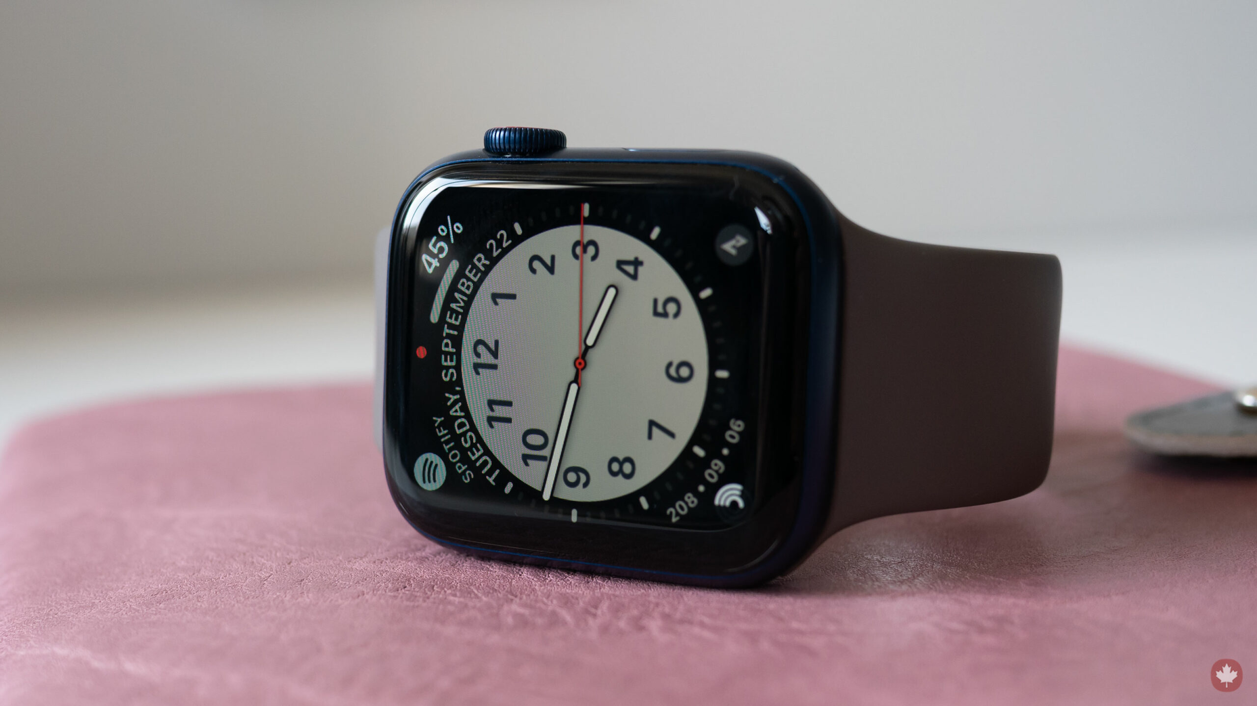 Apple Watch Series 6 on its side