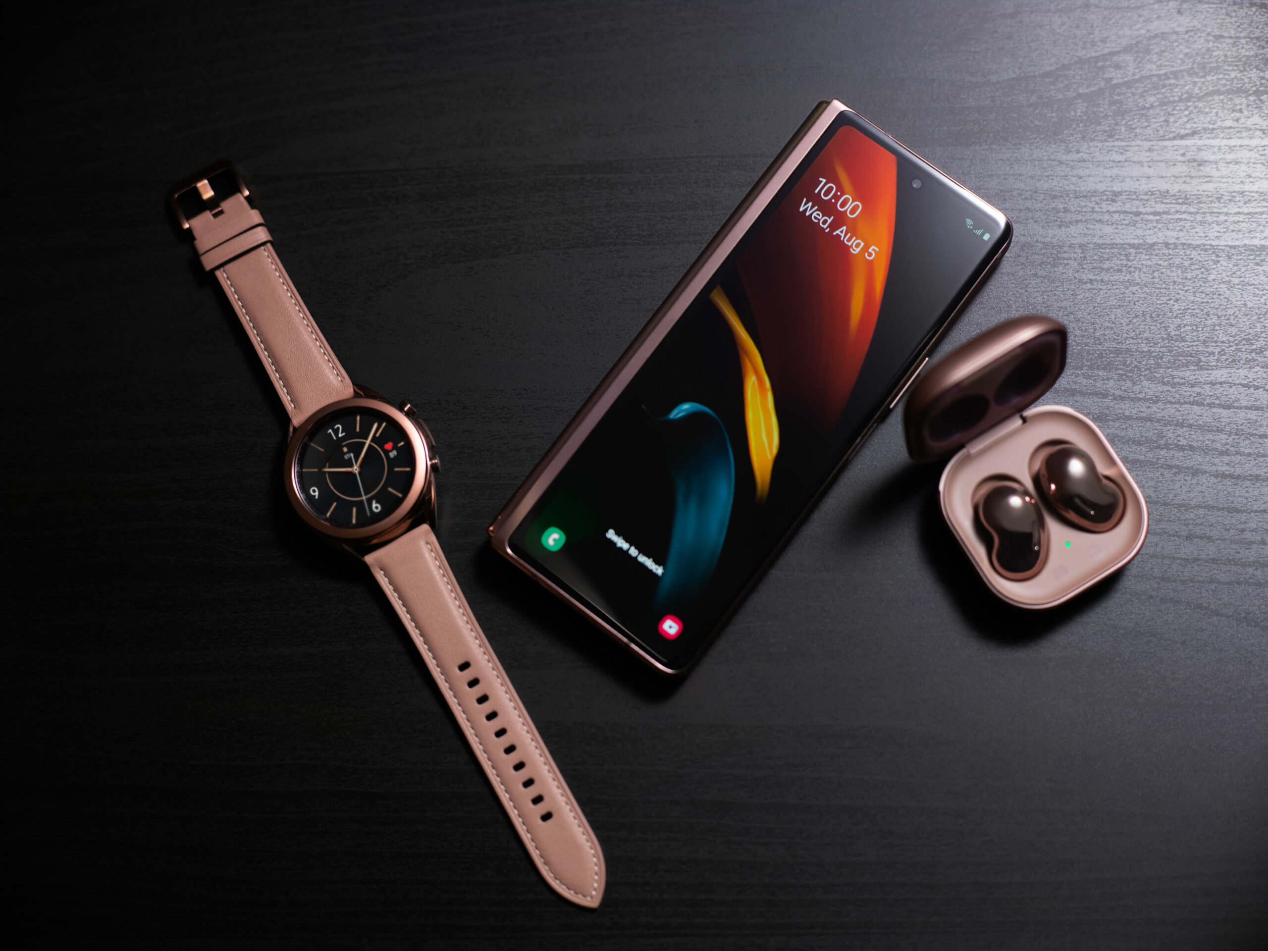 Galazy Z Fold 2, Galaxy Watch 3 and Galaxy Buds Live