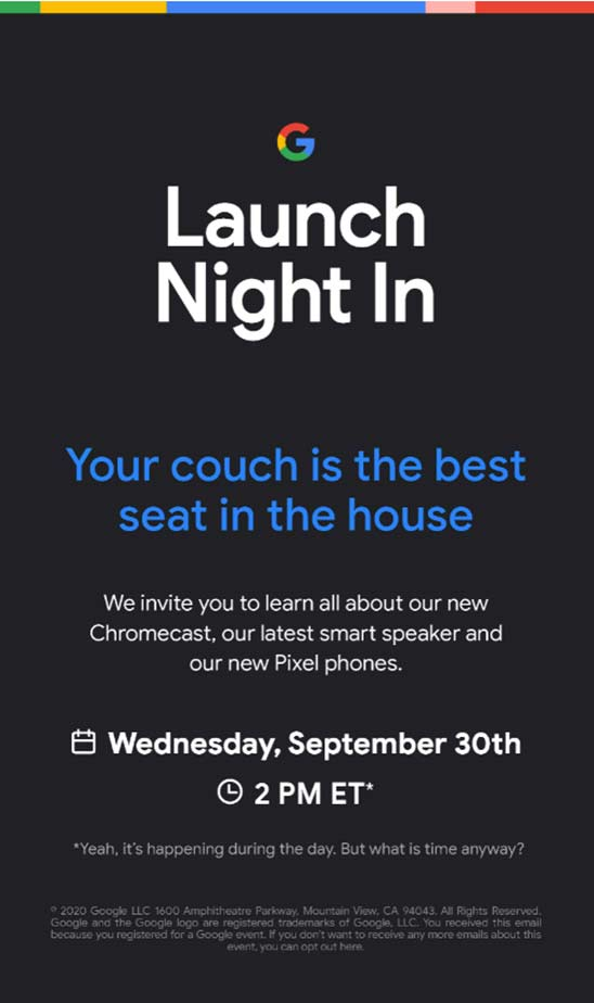 September 30 'Made by Google' event to reveal Pixel 5, new smart speaker