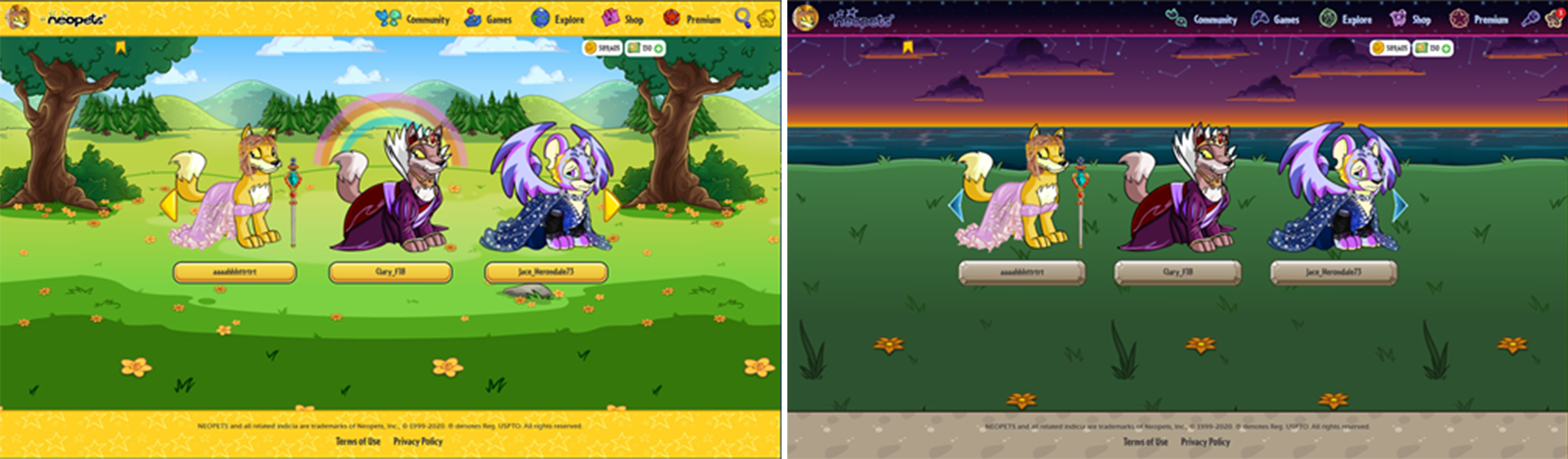 Neopets themes on mobile