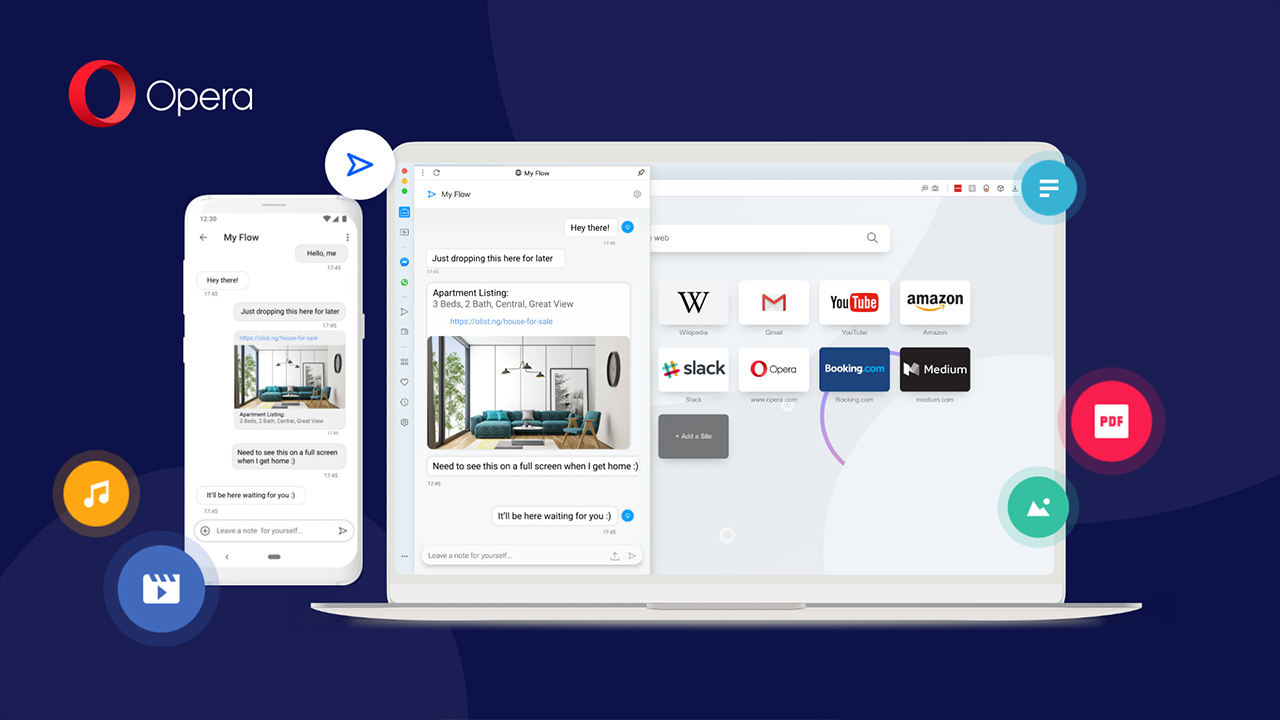 Opera's refreshed sync feature uses a QR code to connect your phone and PC