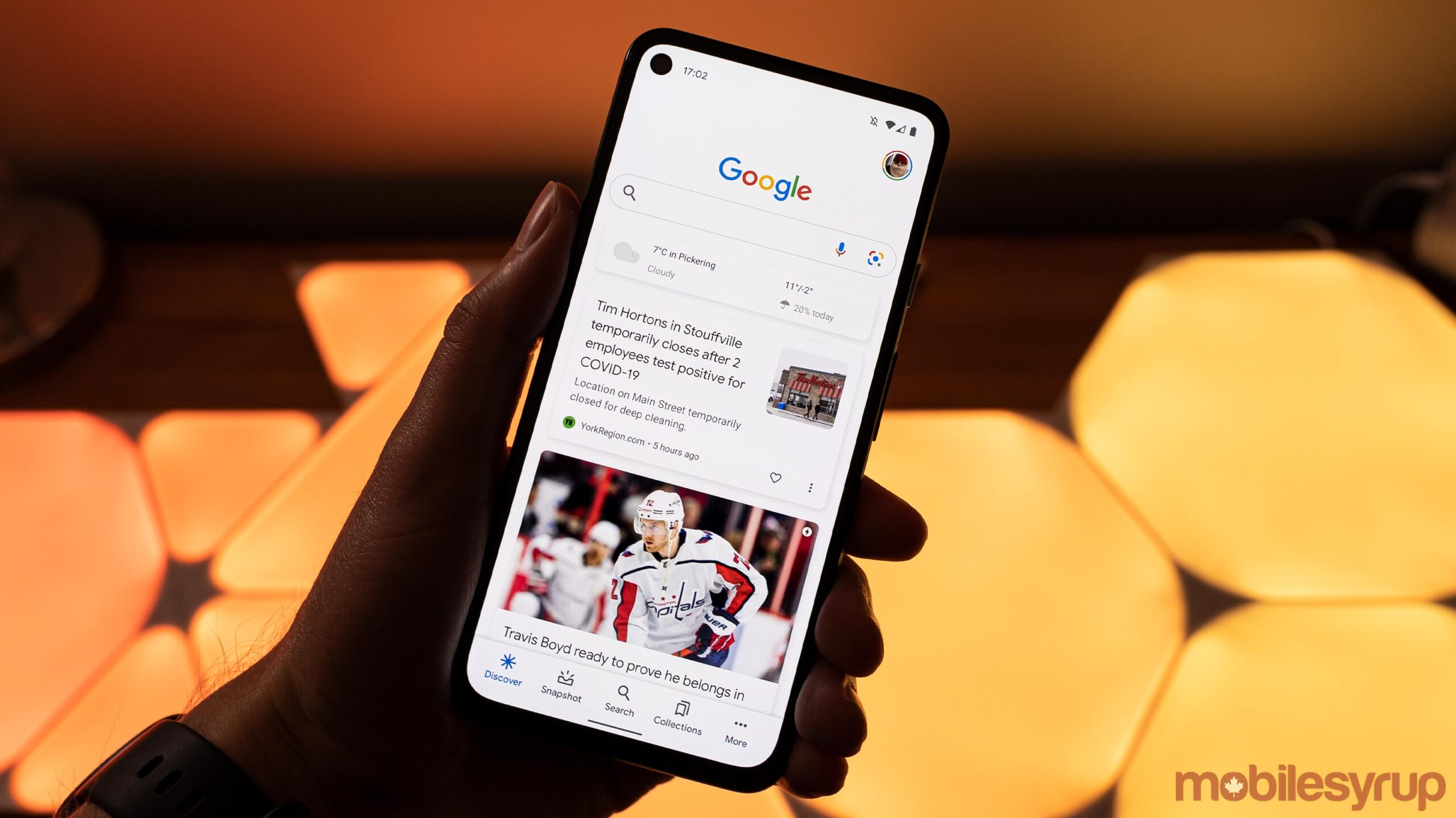 Google app on Pixel 4a 5G