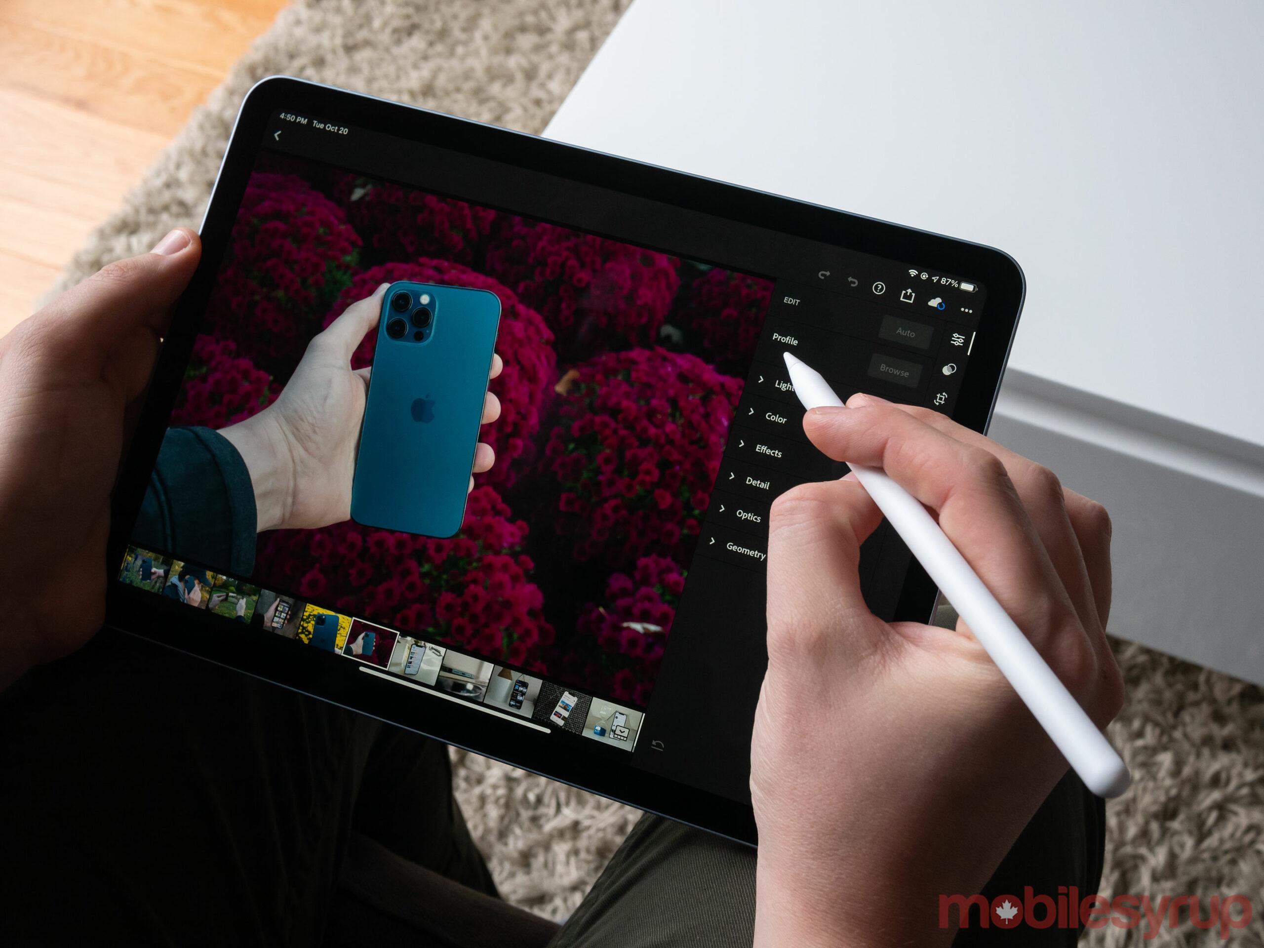 iPad Air Lightroom