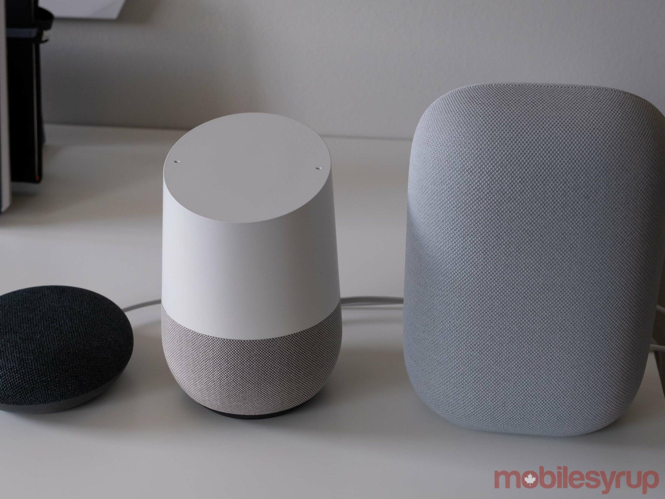 Nest Mini, Google Home and Nest Audio
