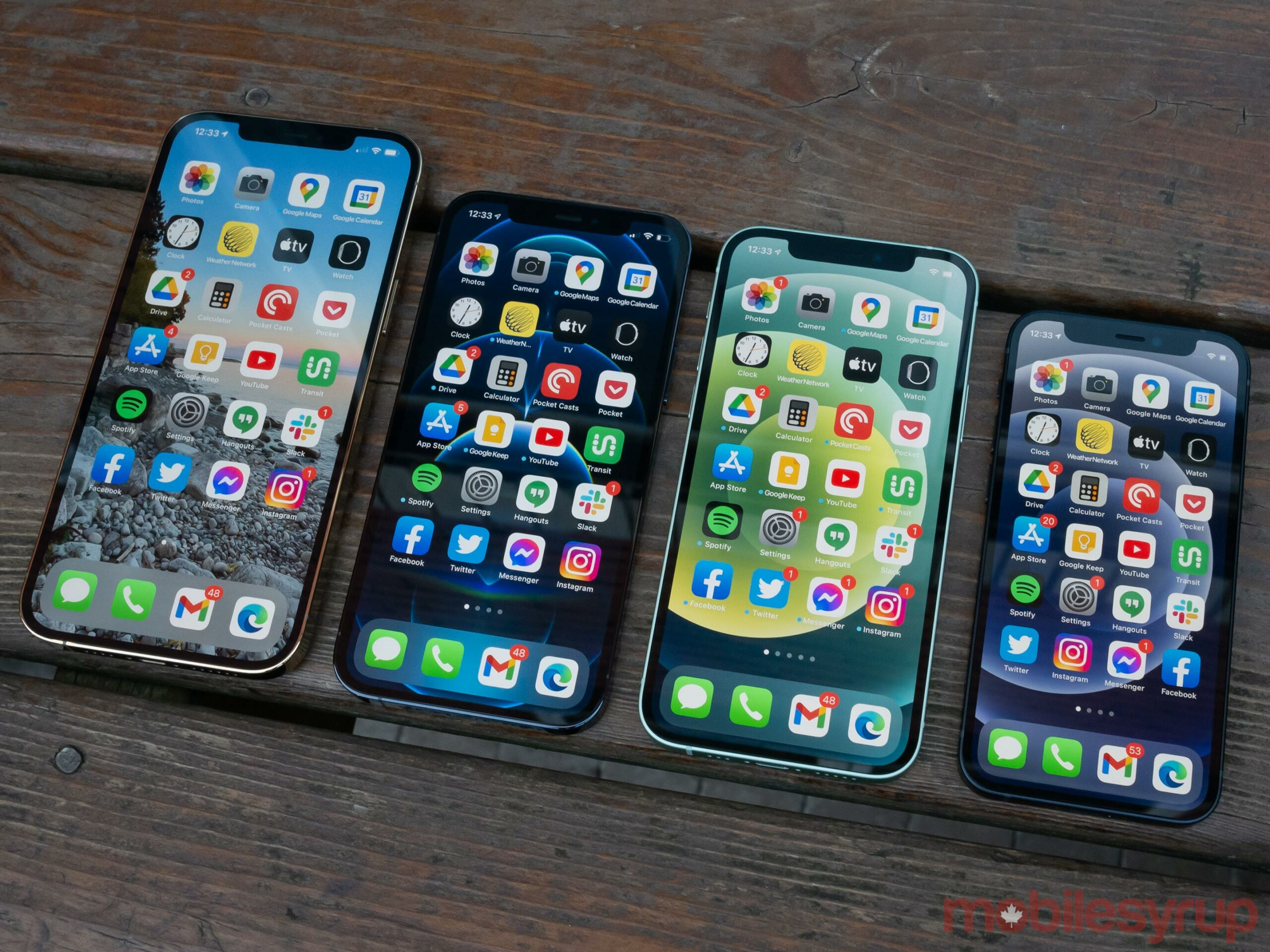 iPhone 12 entire lineup