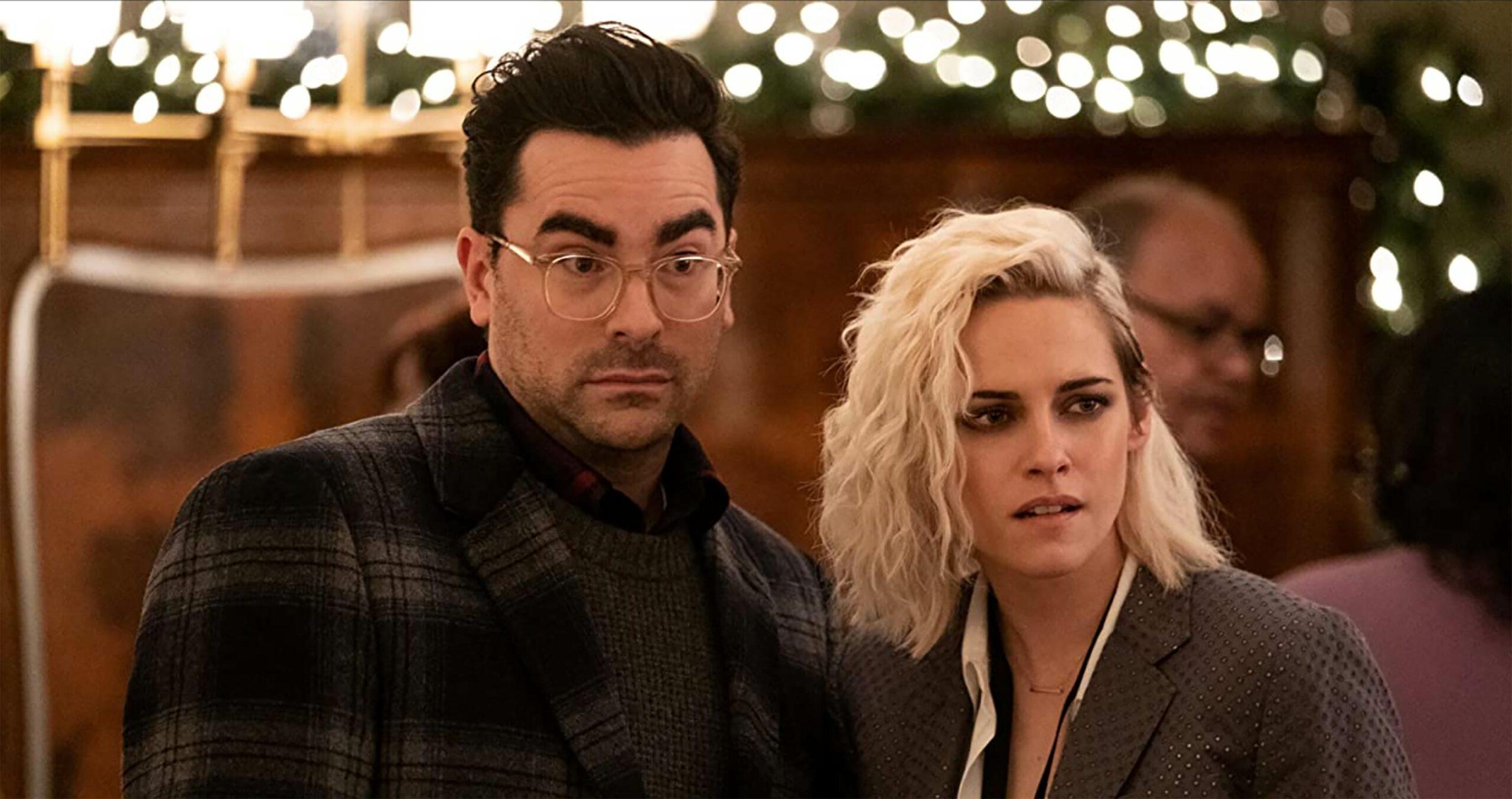 Happiest Season Dan Levy and Kristen Stewart