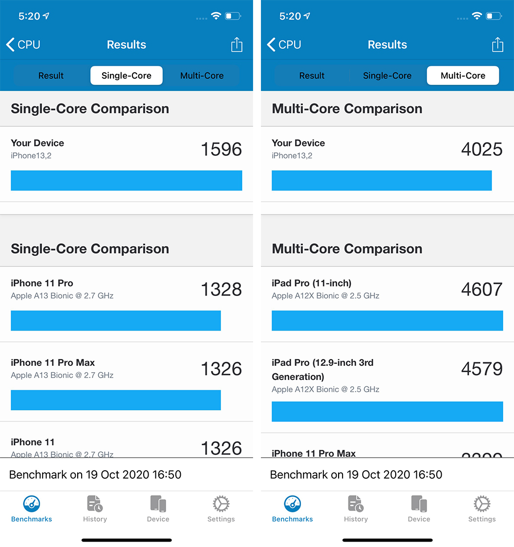 iPhone 12 benchmark