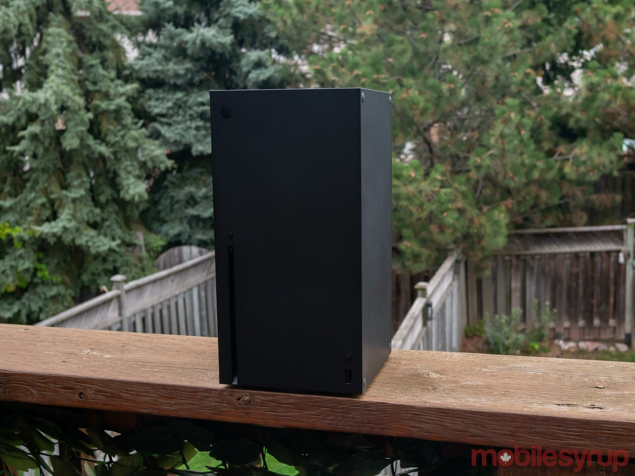 Xbox Series X outside