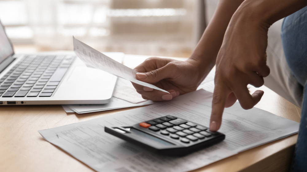 Stock photo of someone doing their finances