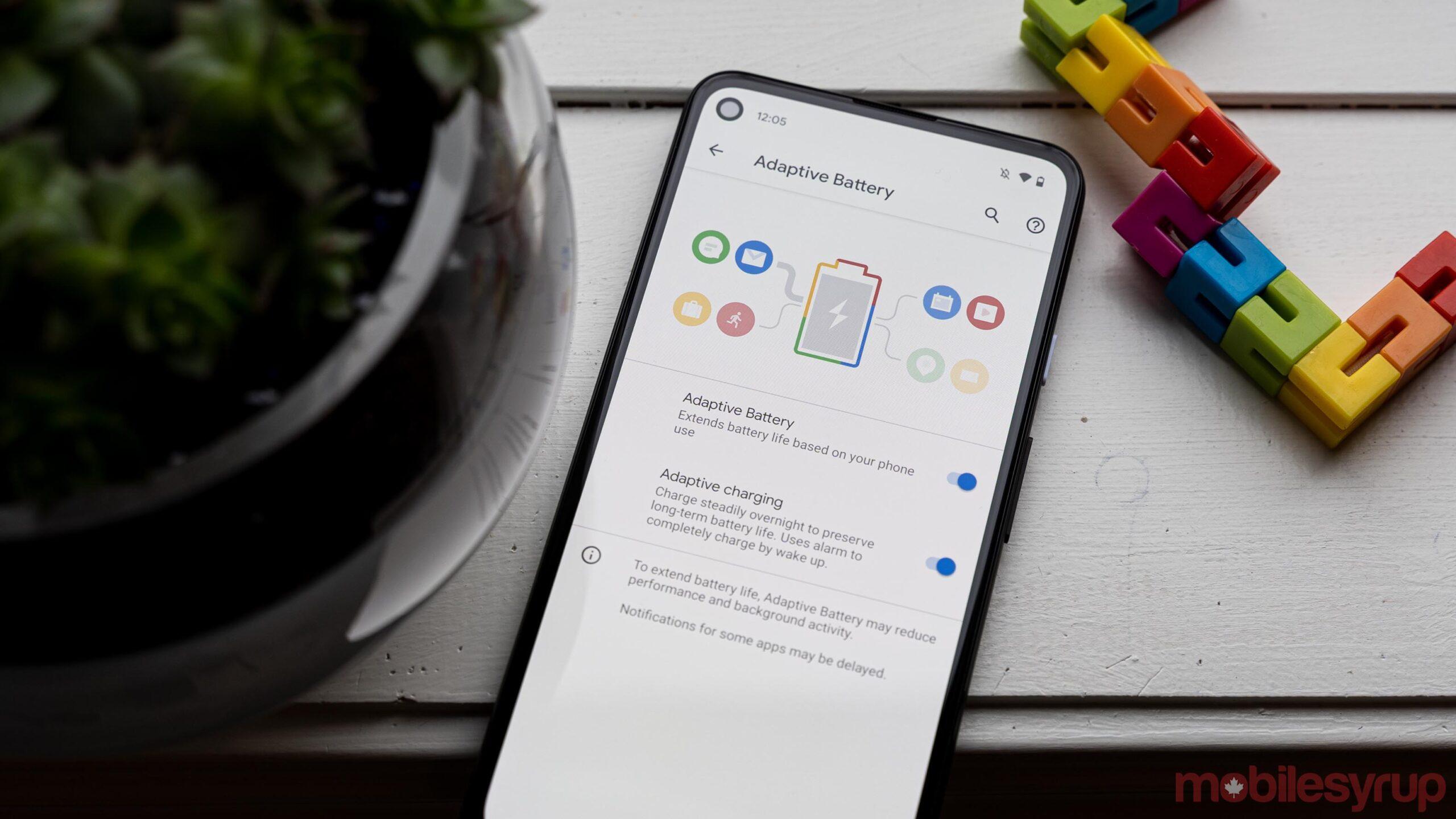 Google Pixel 4a 5G Adaptive Charging setting