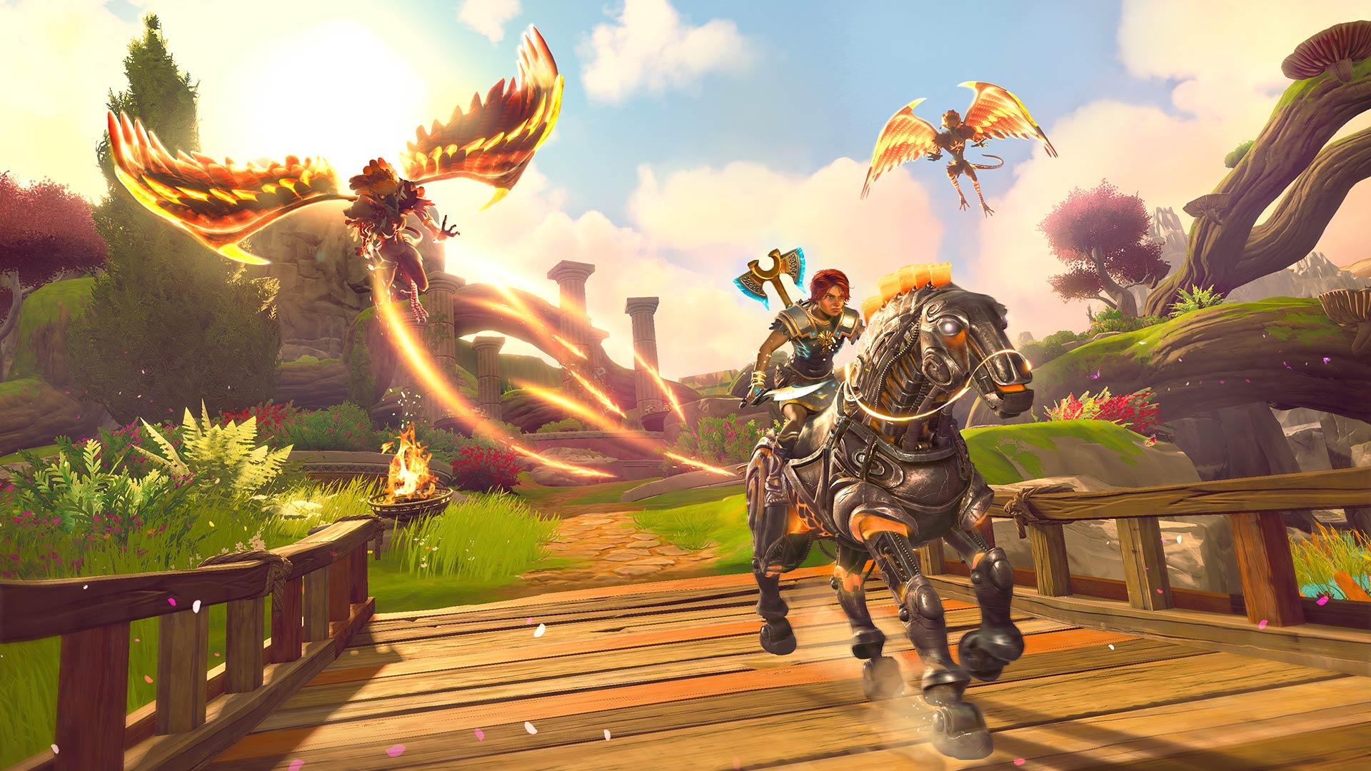Immortals Fenyx Rising harpy attack