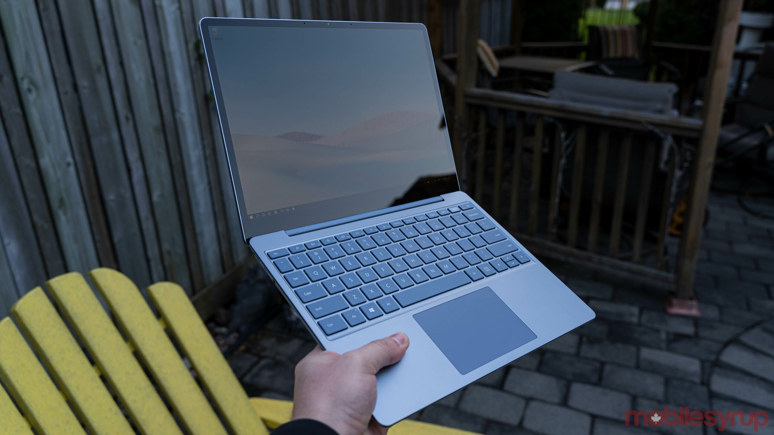 Surface Laptop Go in hand