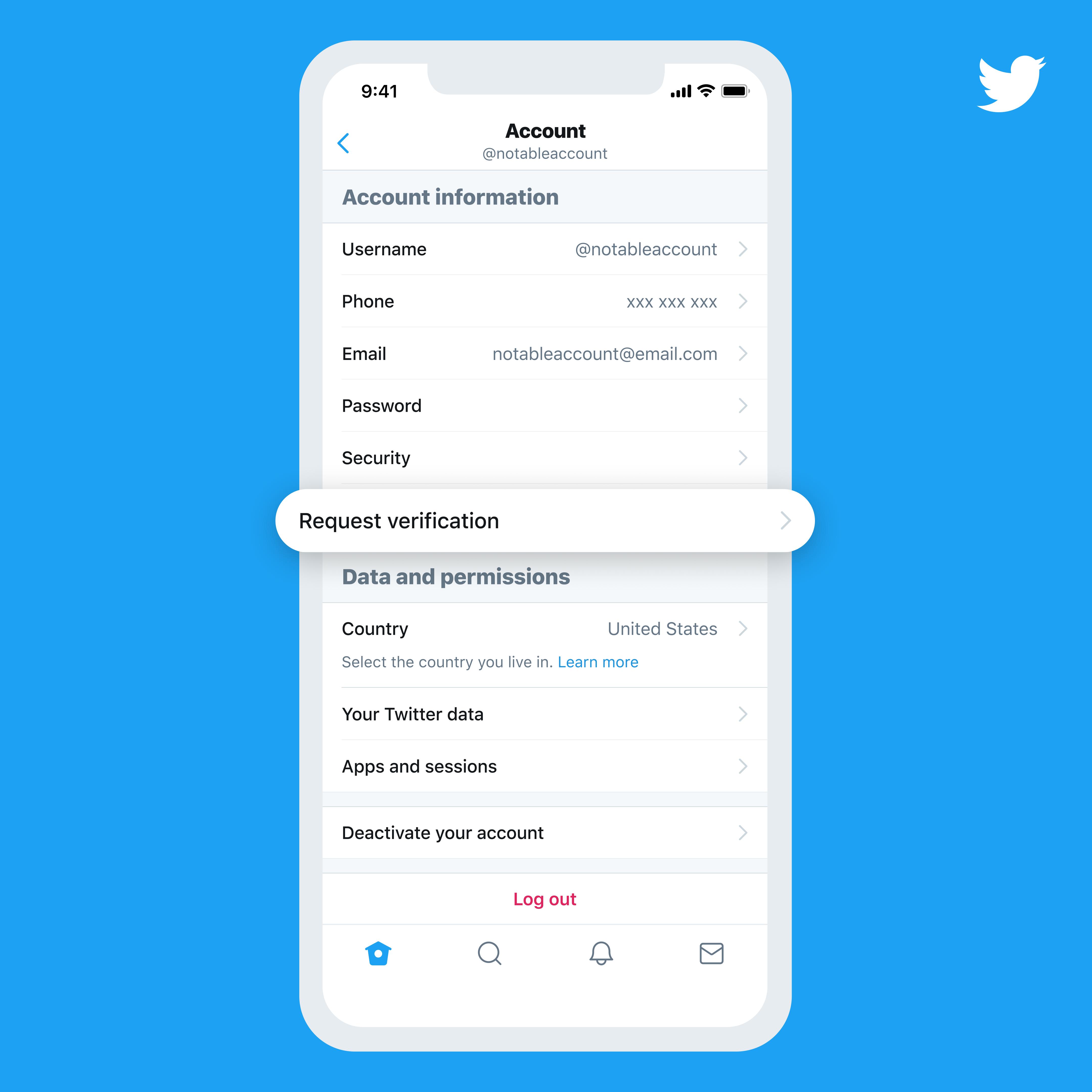 Twitter verificationr request