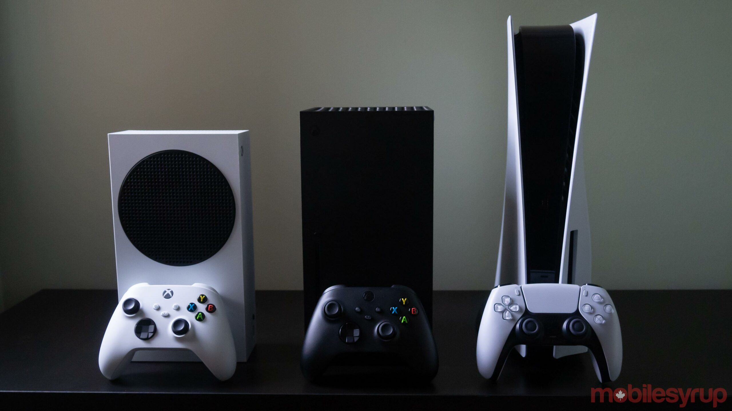 Xbox Series S, the Xbox Series X and the PlayStation 5
