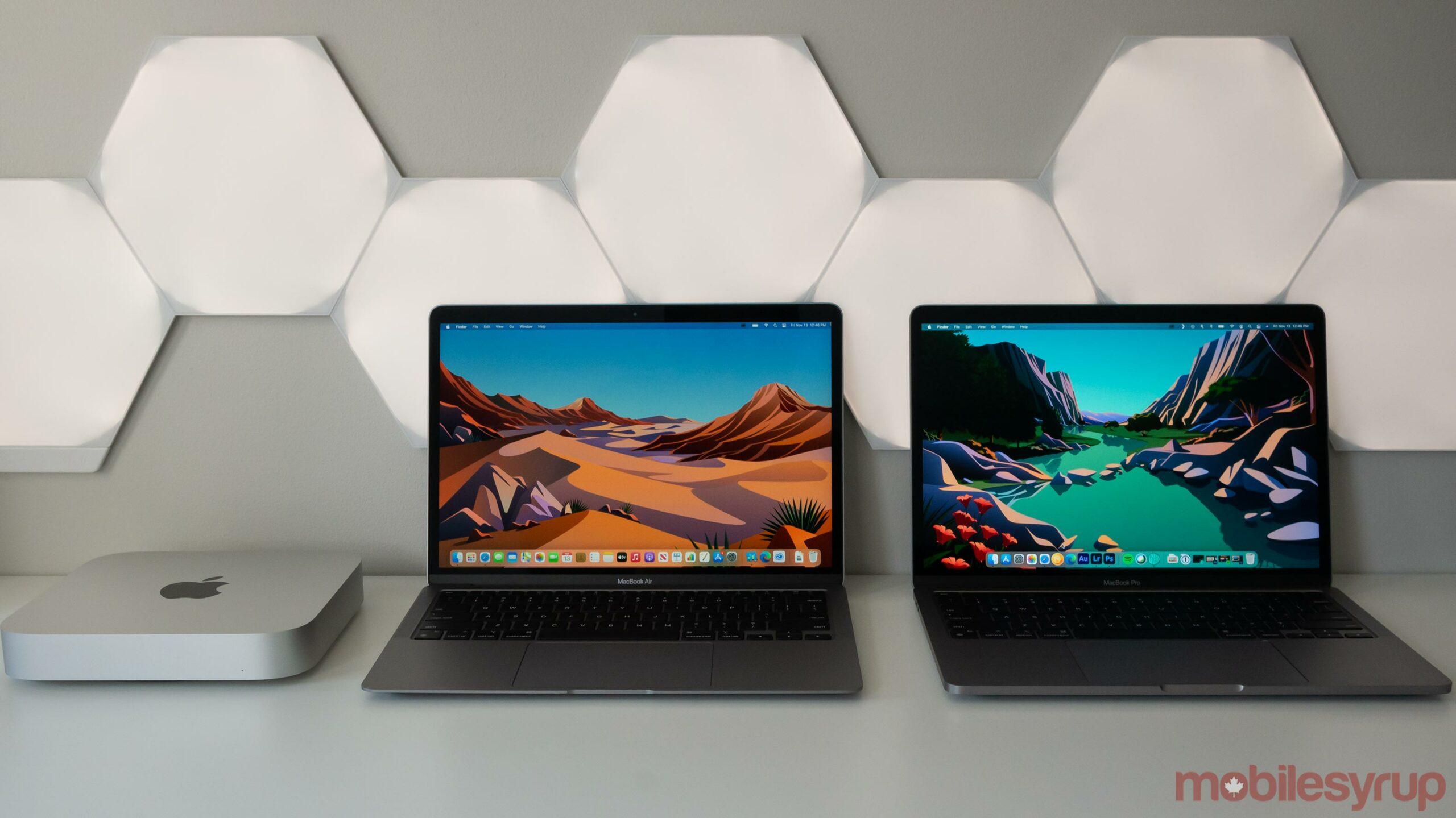 M1 Mac mini, MacBook Pro and MacBook Air