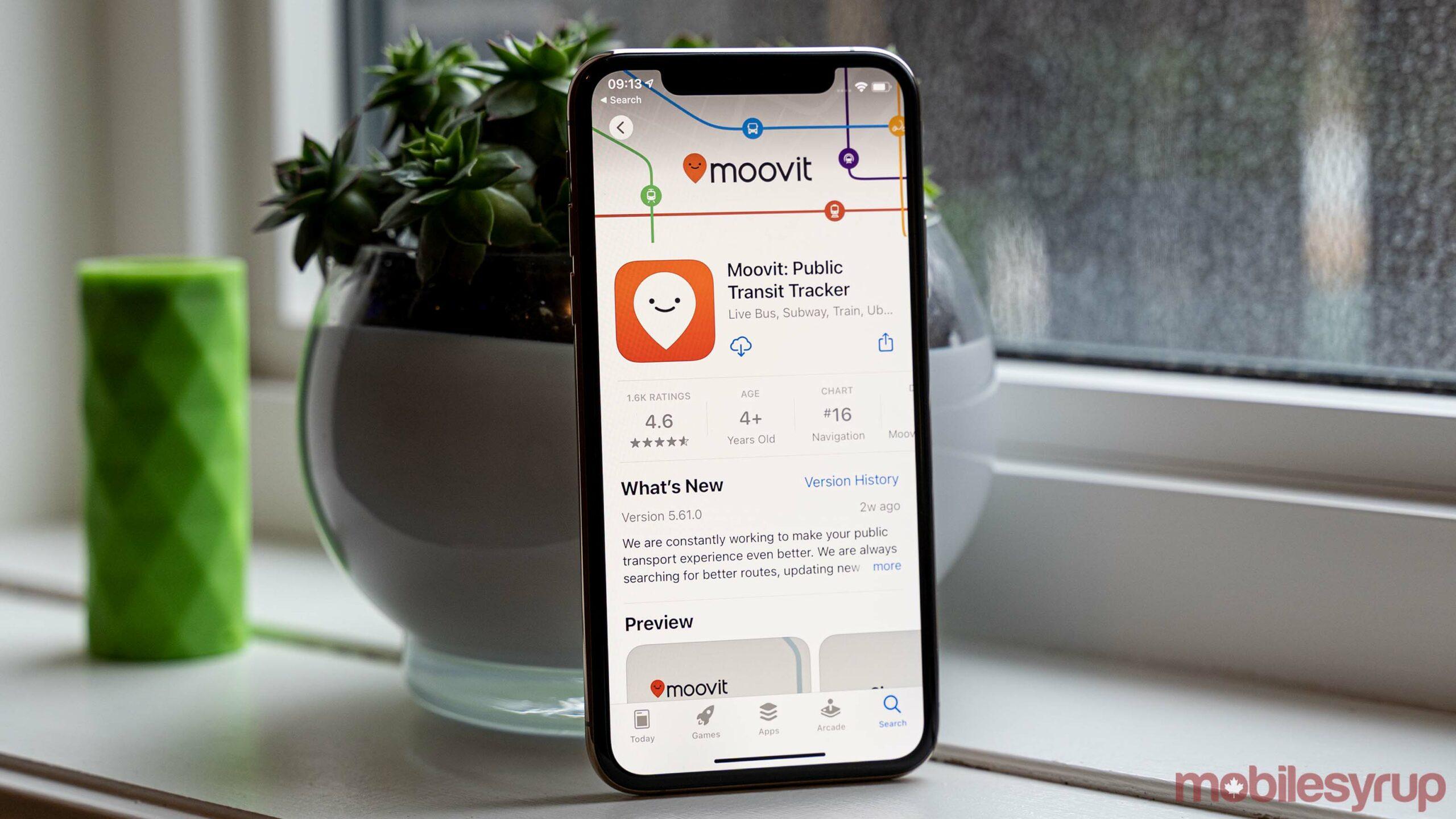Moovit app on the App Store